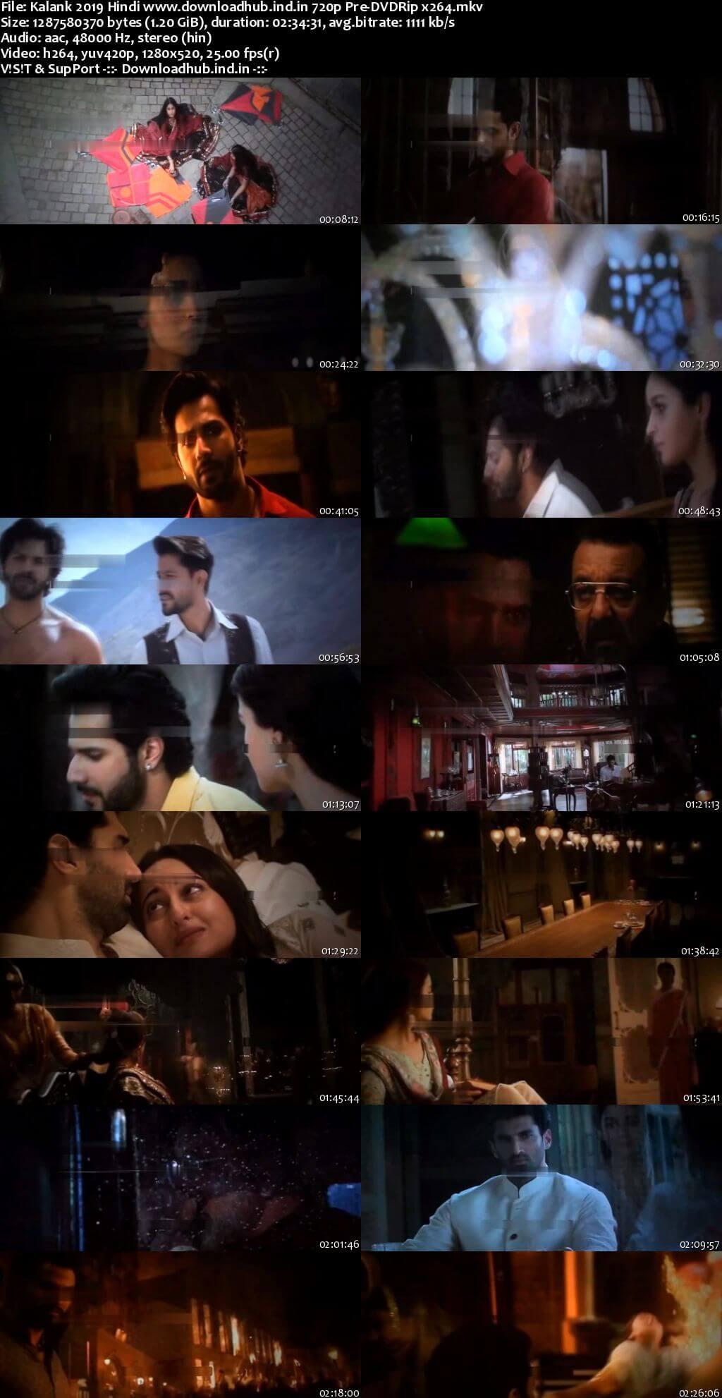 Kalank 2019 Hindi 720p Pre-DVDRip x264