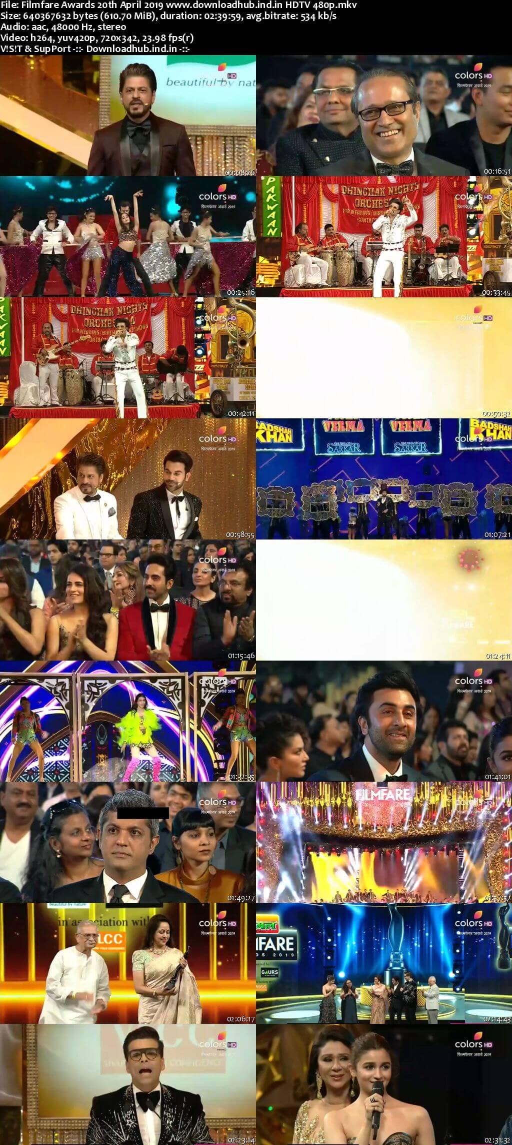 Filmfare Awards 20th April 2019 600MB HDTV 480p