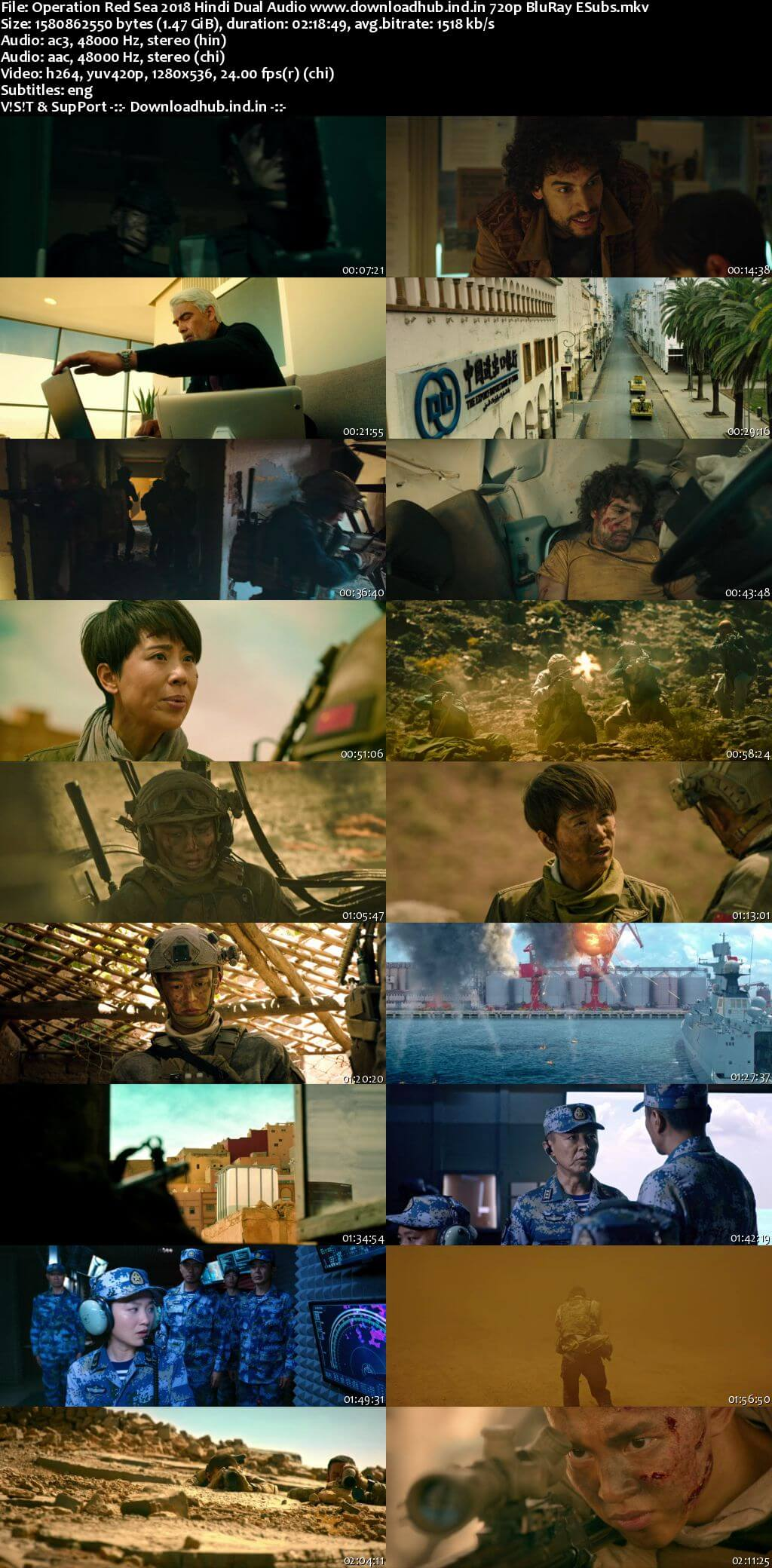 Operation Red Sea 2018 Hindi Dual Audio 720p BluRay ESubs