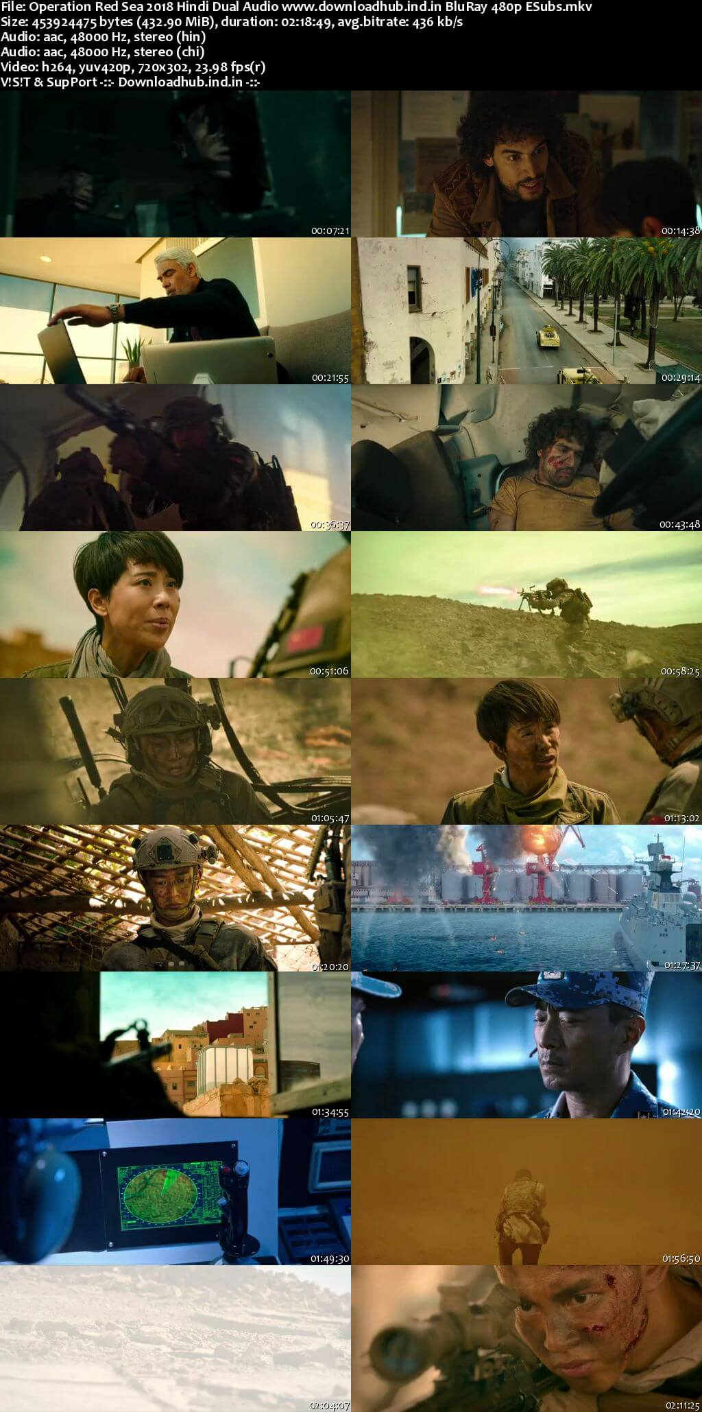 Operation Red Sea 2018 Hindi Dual Audio 400MB BluRay 480p ESubs