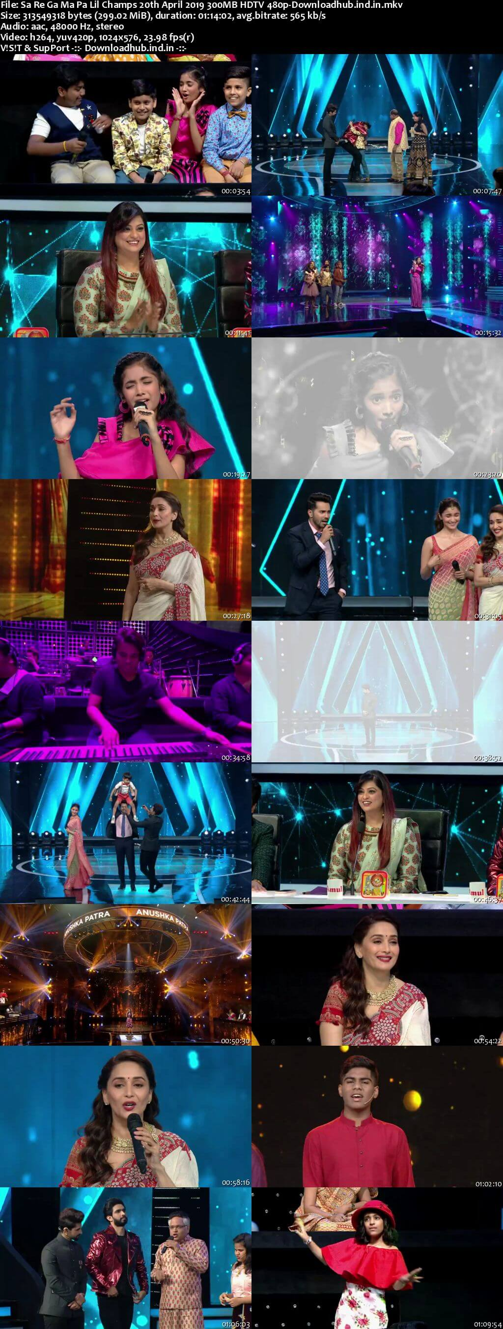 Sa Re Ga Ma Pa Lil Champs 20 April 2019 Episode 20 HDTV 480p