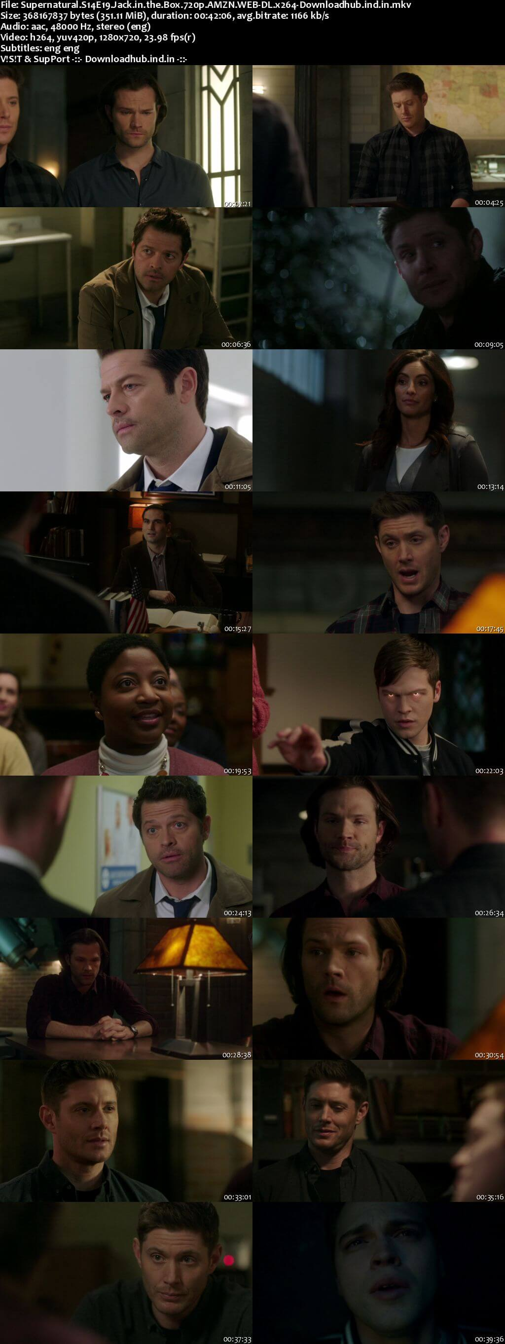 Supernatural S14E19 350MB AMZN Web-DL 720p ESubs