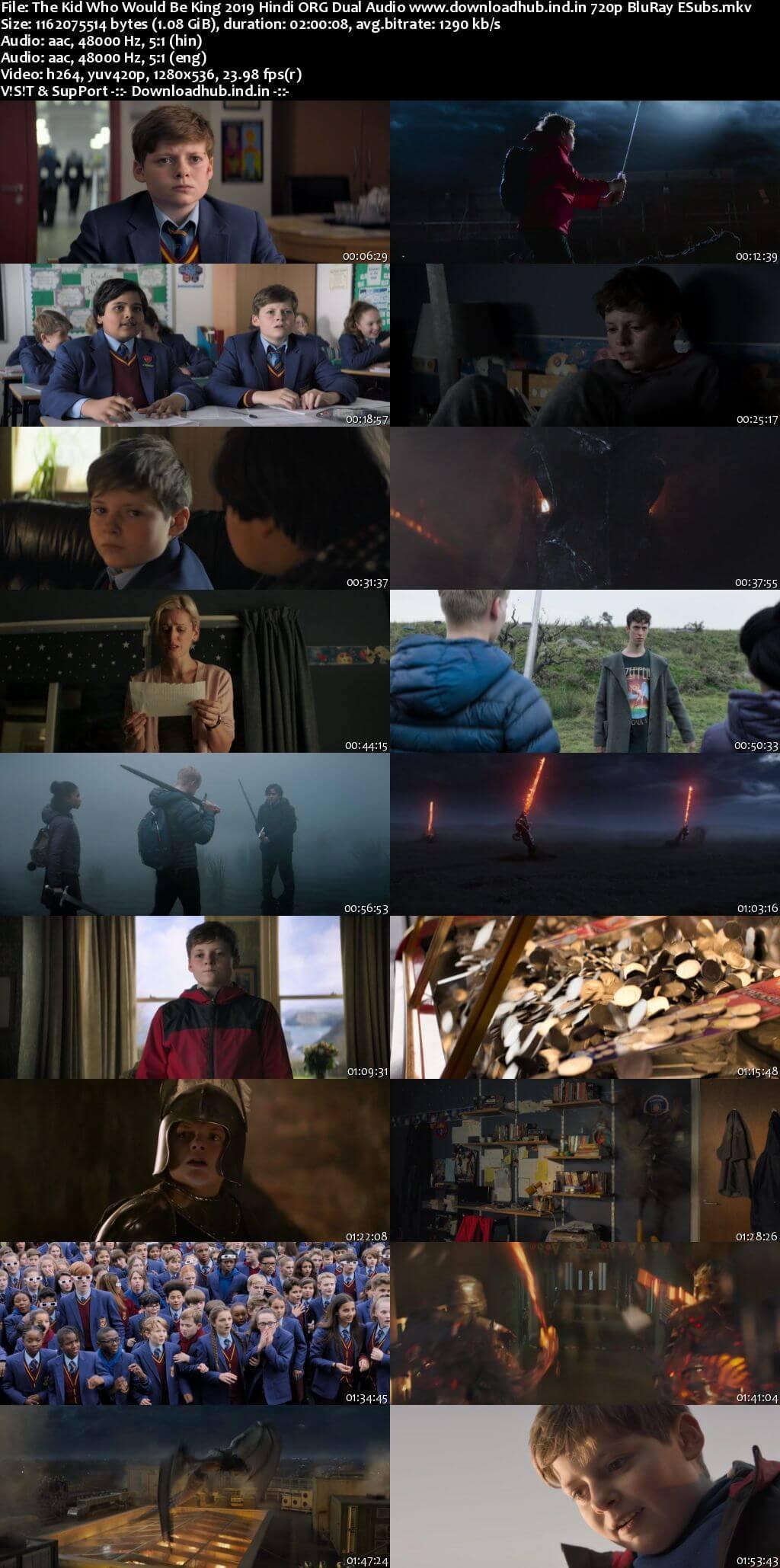 The Kid Who Would Be King 2019 Hindi ORG Dual Audio 720p BluRay ESubs