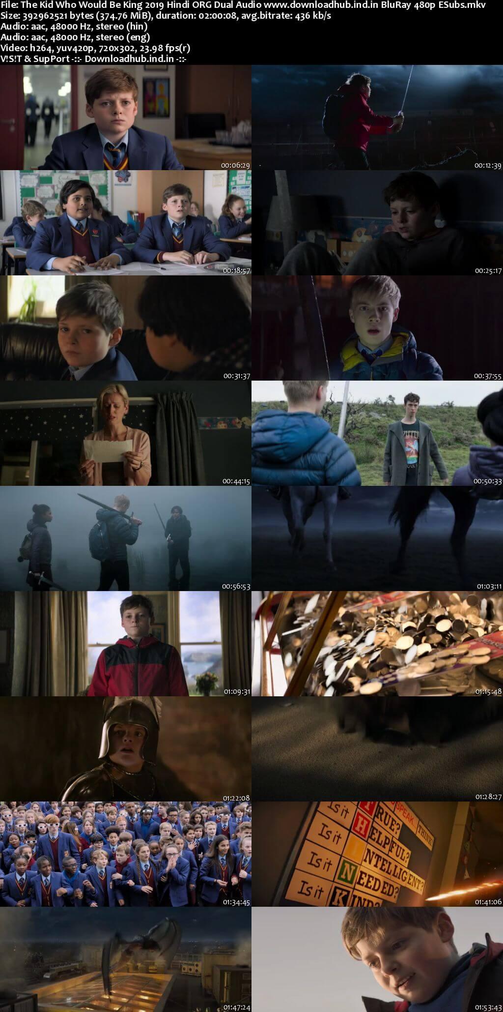 The Kid Who Would Be King 2019 Hindi ORG Dual Audio 350MB BluRay 480p ESubs