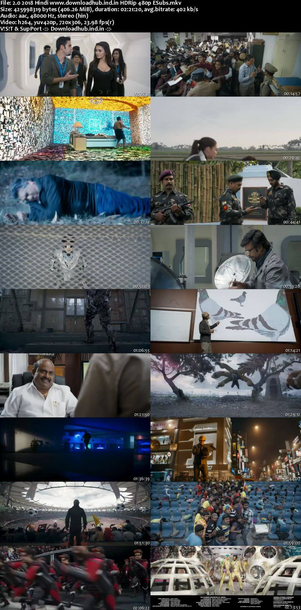 2.0 2018 Hindi 400MB HDRip 480p ESubs