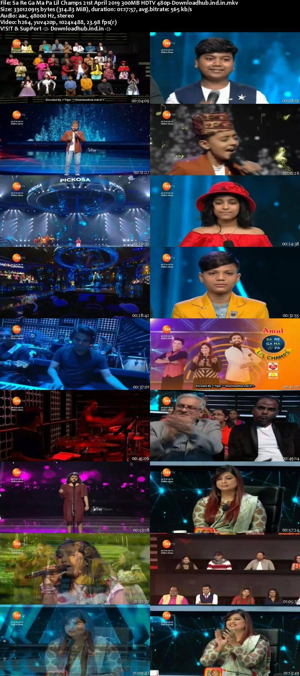 Sa Re Ga Ma Pa Lil Champs 21 April 2019 Episode 21 HDTV 480p