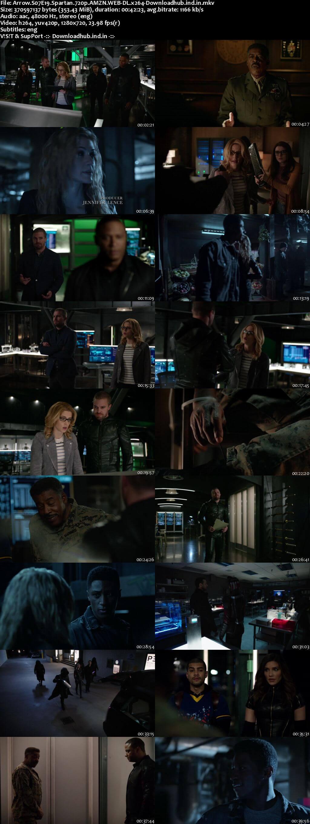 Arrow S07E19 350MB AMZN Web-DL 720p ESubs
