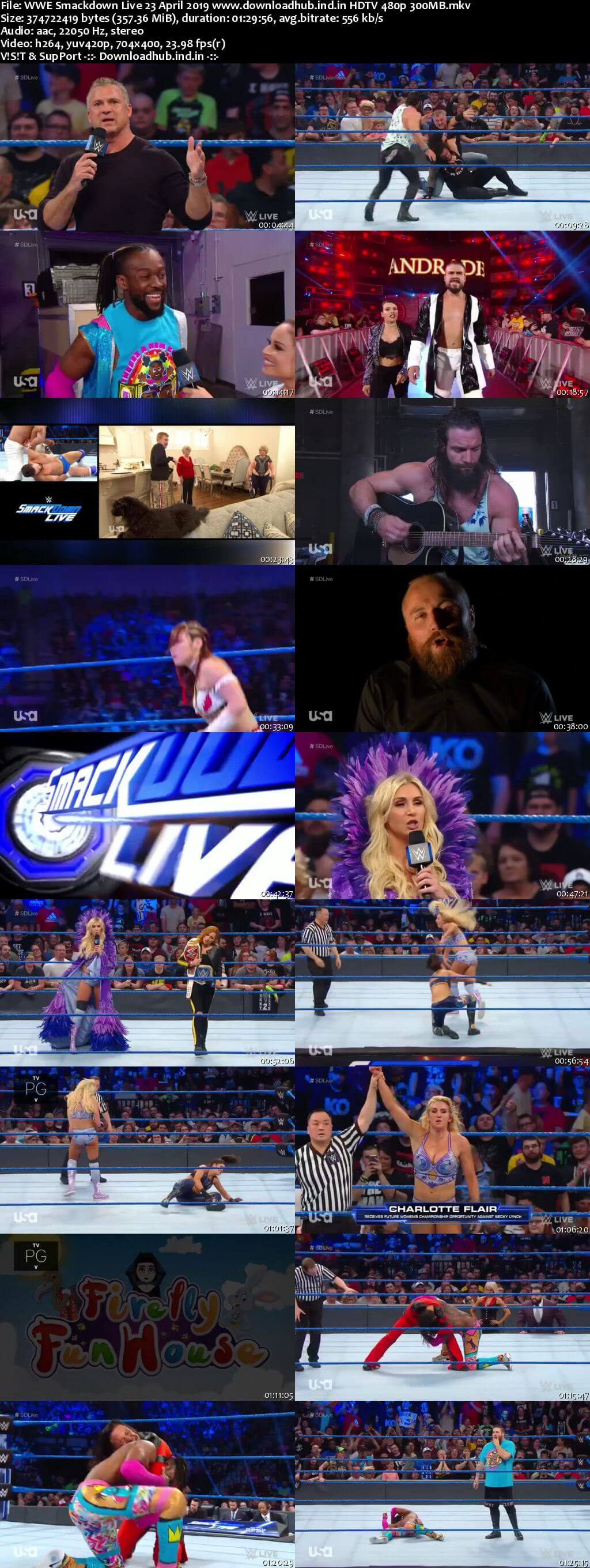 WWE Smackdown Live 23rd April 2019 300MB HDTV 480p
