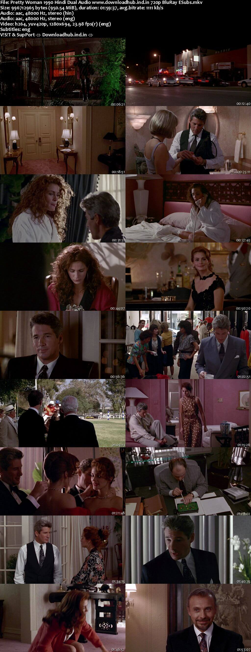 Pretty Woman 1990 Hindi Dual Audio 720p BluRay ESubs