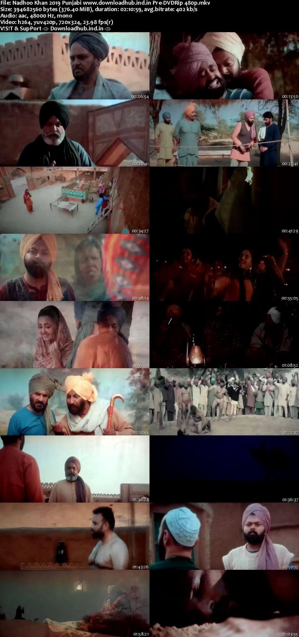 Nadhoo Khan 2019 Punjabi 350MB Pre-DVDRip 480p