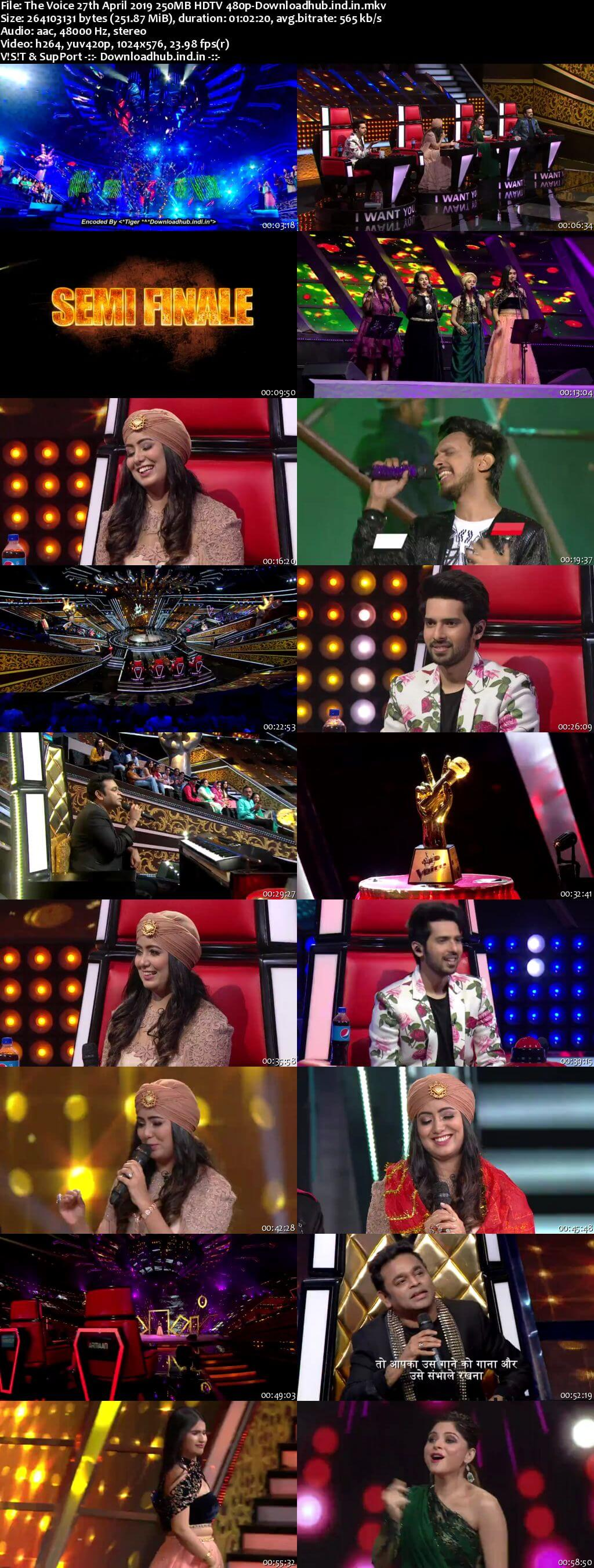 The Voice 27 April 2019 Episode 24 HDTV 480p