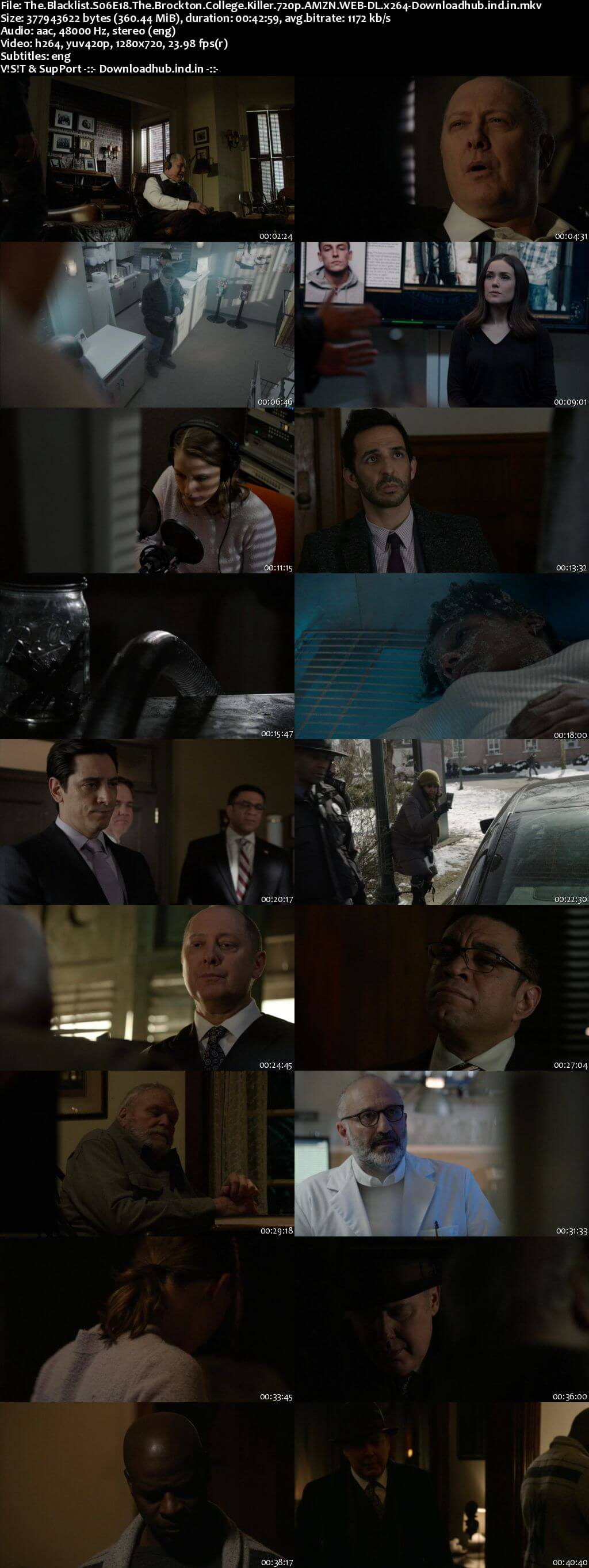 The Blacklist S06E18 350MB AMZN WEB-DL 720p ESubs