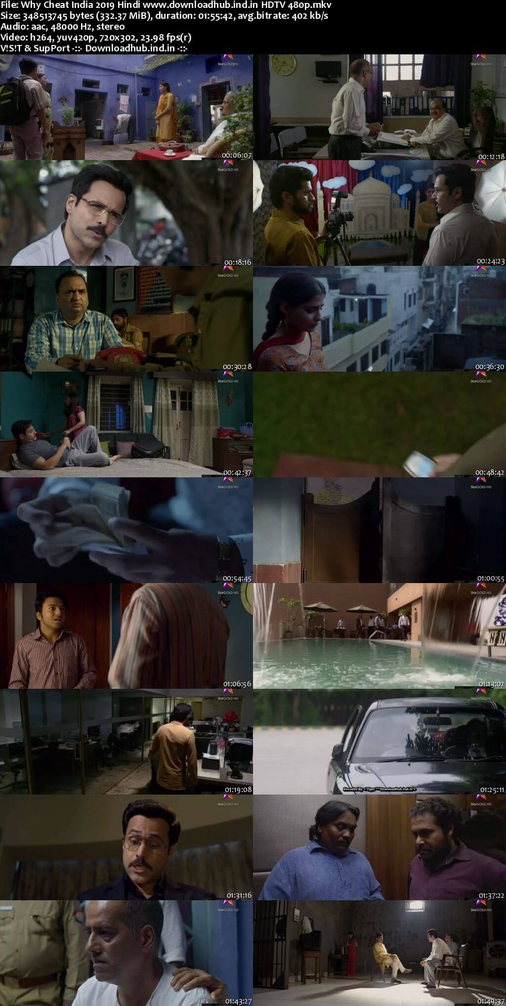 Why Cheat India 2019 Hindi 300MB HDTV 480p