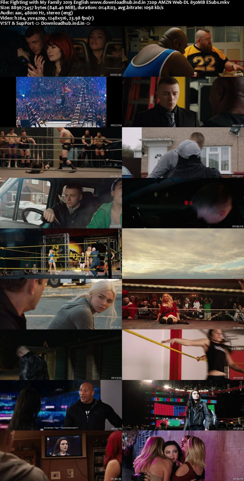 Fighting with My Family 2019 English 720p AMZN Web-DL 850MB ESubs