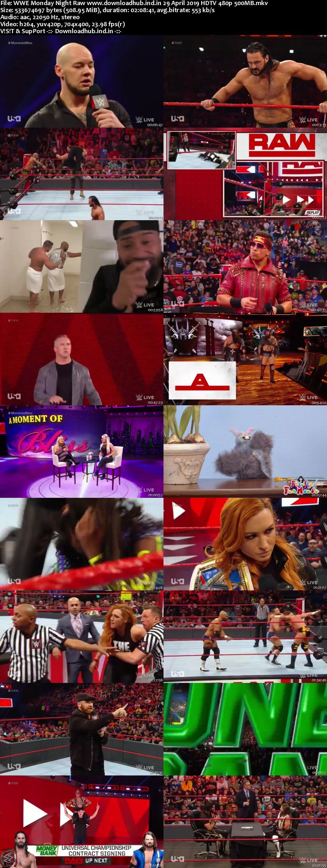 WWE Monday Night Raw 29th April 2019 500MB HDTVRip 480p