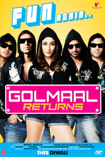 Golmaal Returns 2008 Hindi 720p BluRay 850mb