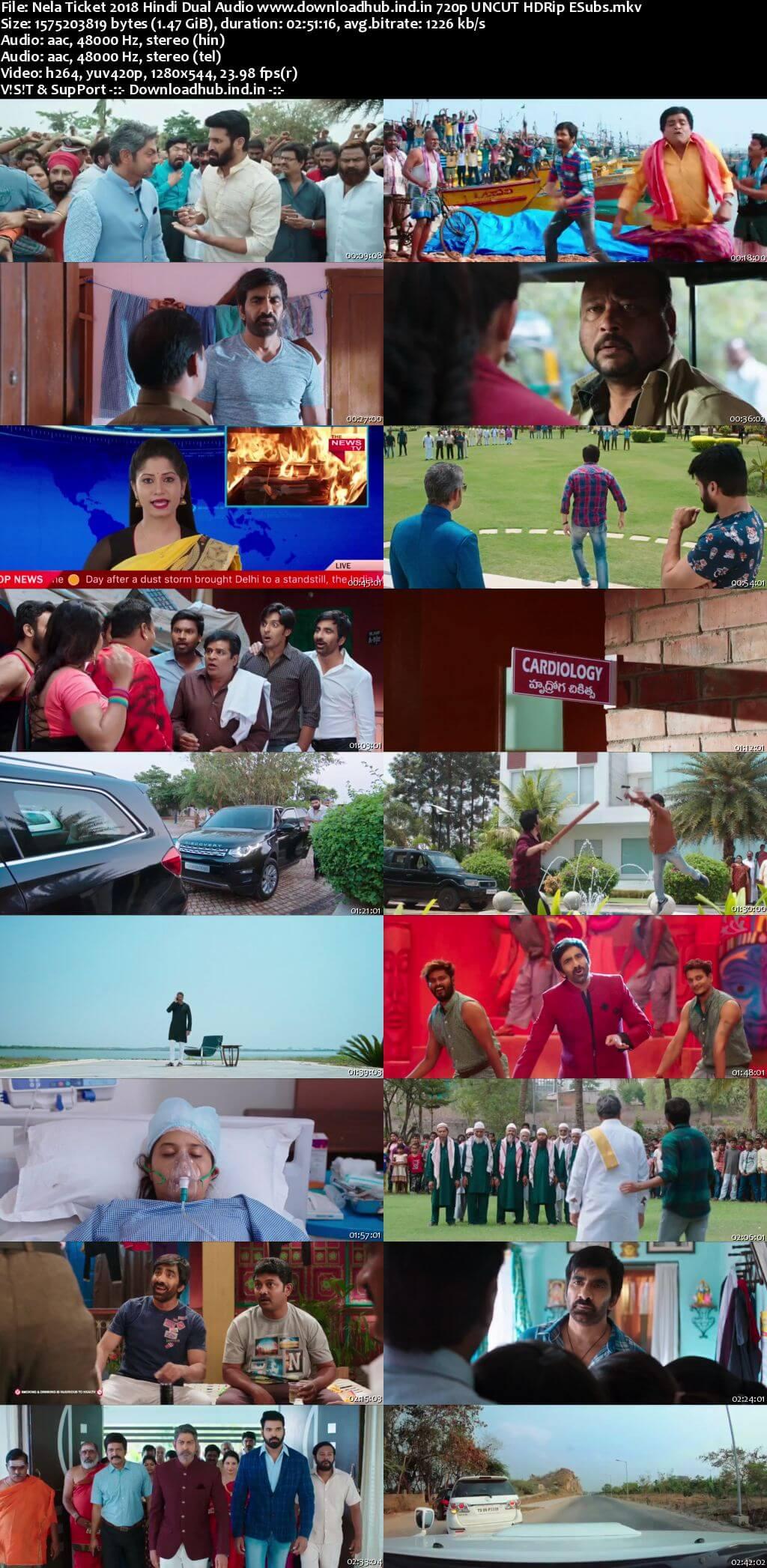 Nela Ticket 2018 Hindi Dual Audio 720p UNCUT HDRip ESubs