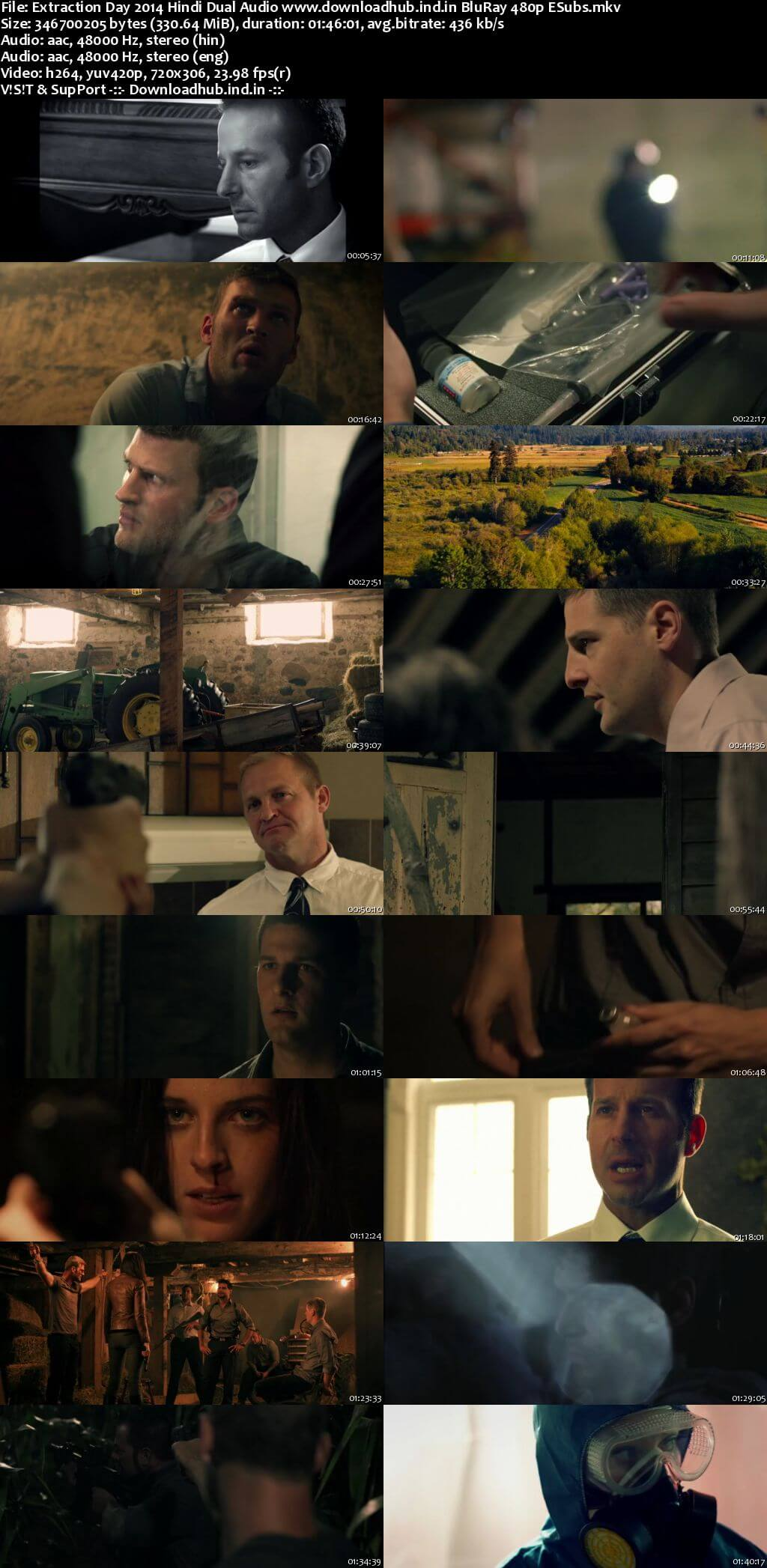 Extraction Day 2014 Hindi Dual Audio 300MB BluRay 480p ESubs
