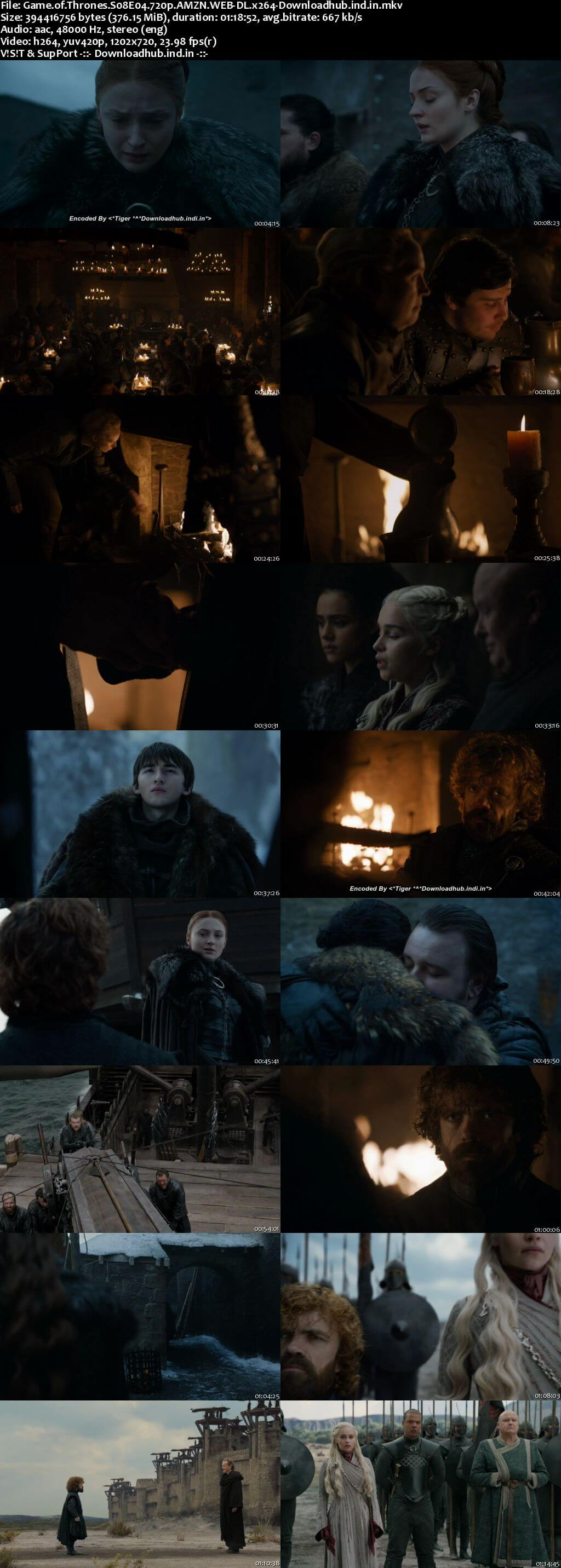 Game of Thrones S08E04 350MB AMZN WEB-DL 720p ESubs