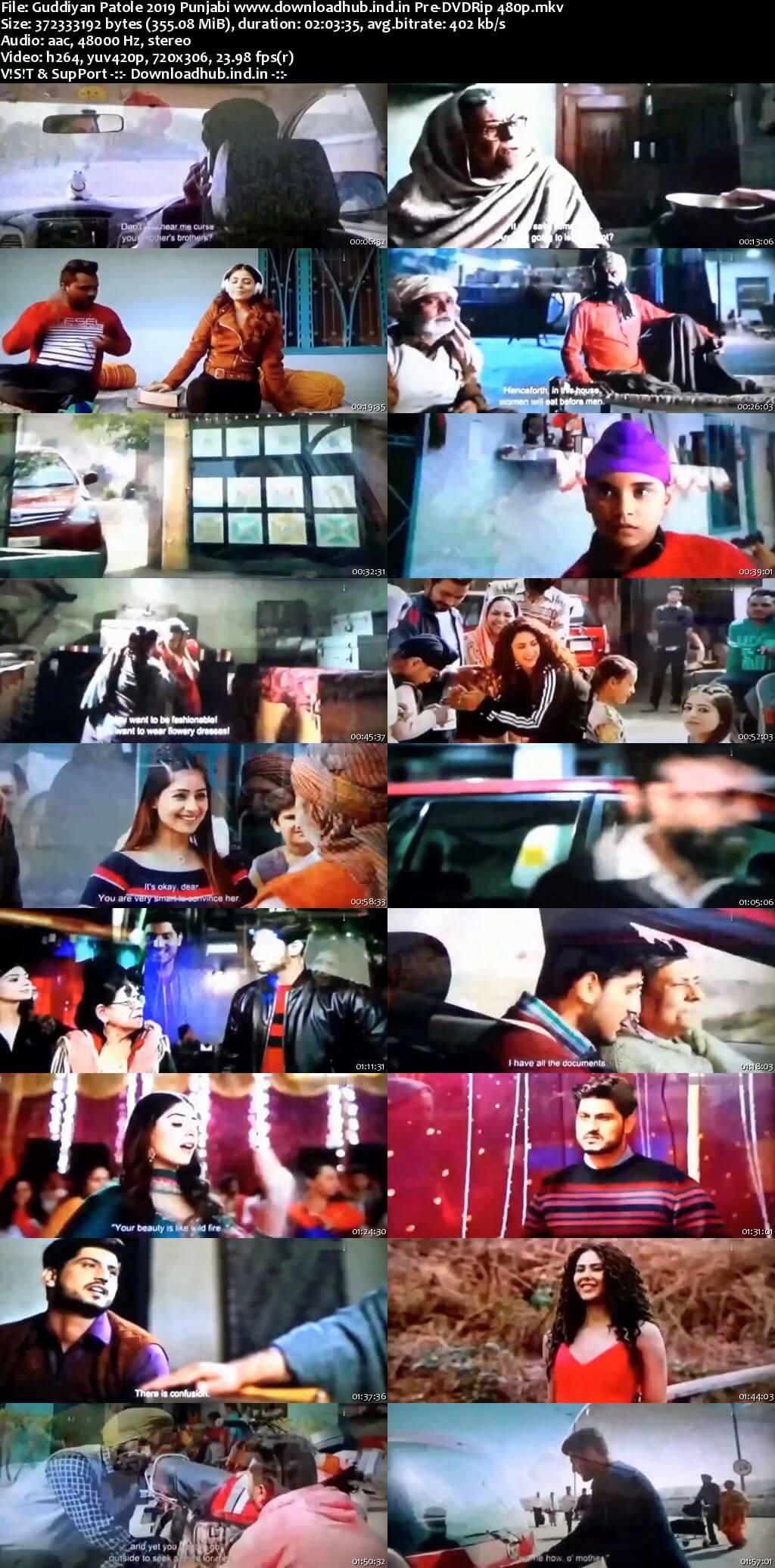 Guddiyan Patole 2019 Punjabi 350MB Pre-DVDRip 480p