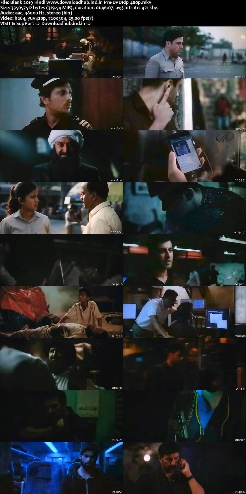 Blank 2019 Hindi 300MB Pre-DVDRip 480p