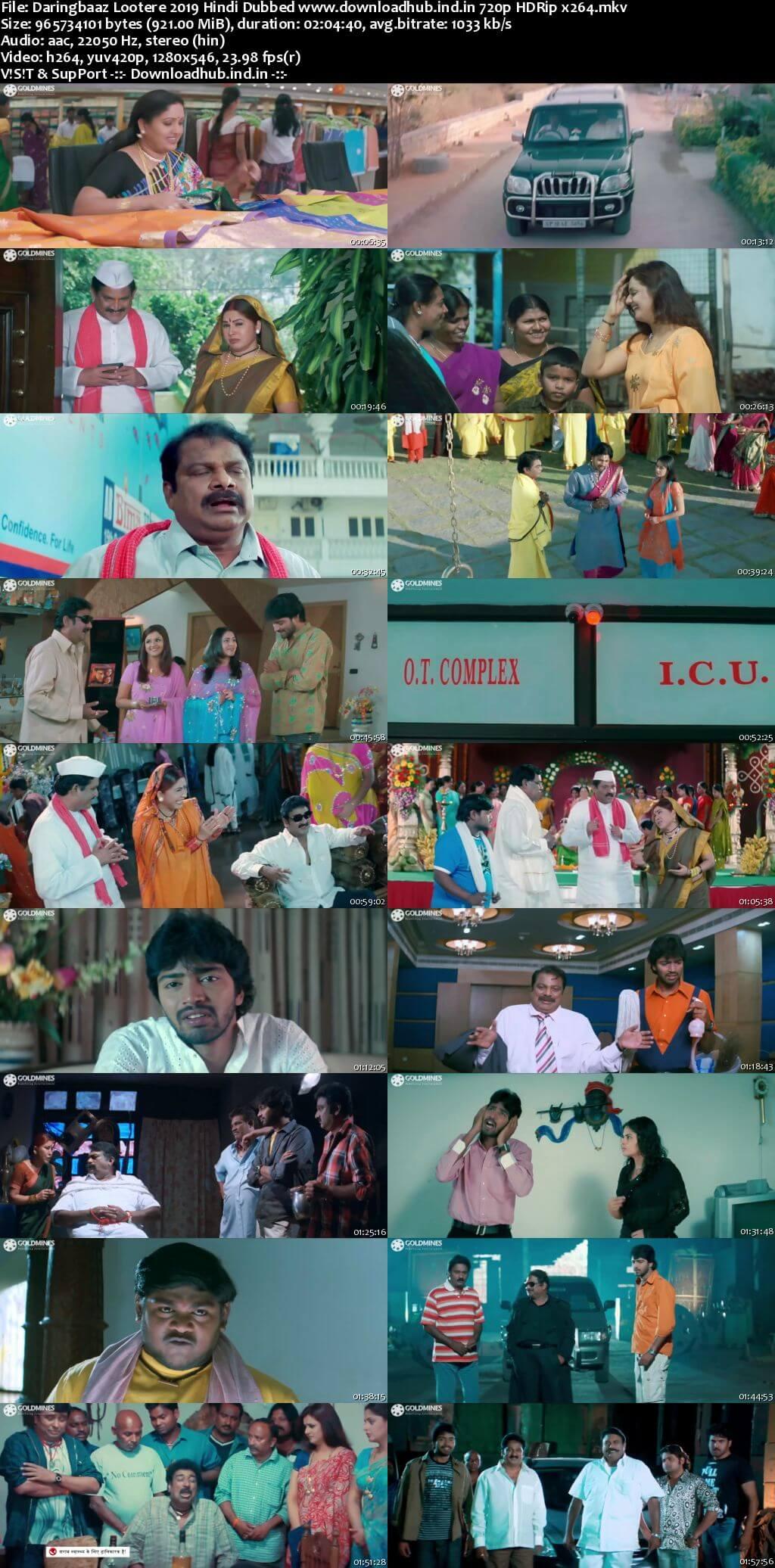 Daringbaaz Lootere 2019 Hindi Dubbed 720p HDRip x264