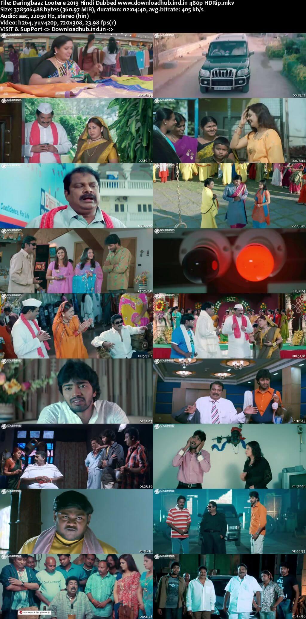 Daringbaaz Lootere 2019 Hindi Dubbed 350MB HDRip 480p