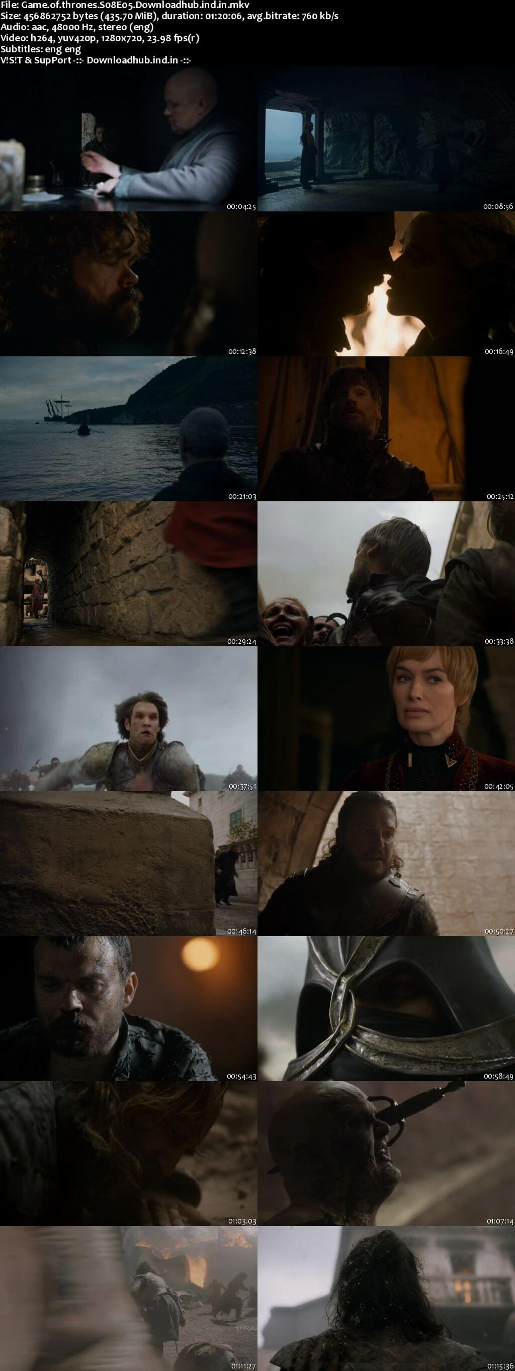 Game of Thrones S08E05 400MB AMZN WEB-DL 720p ESubs