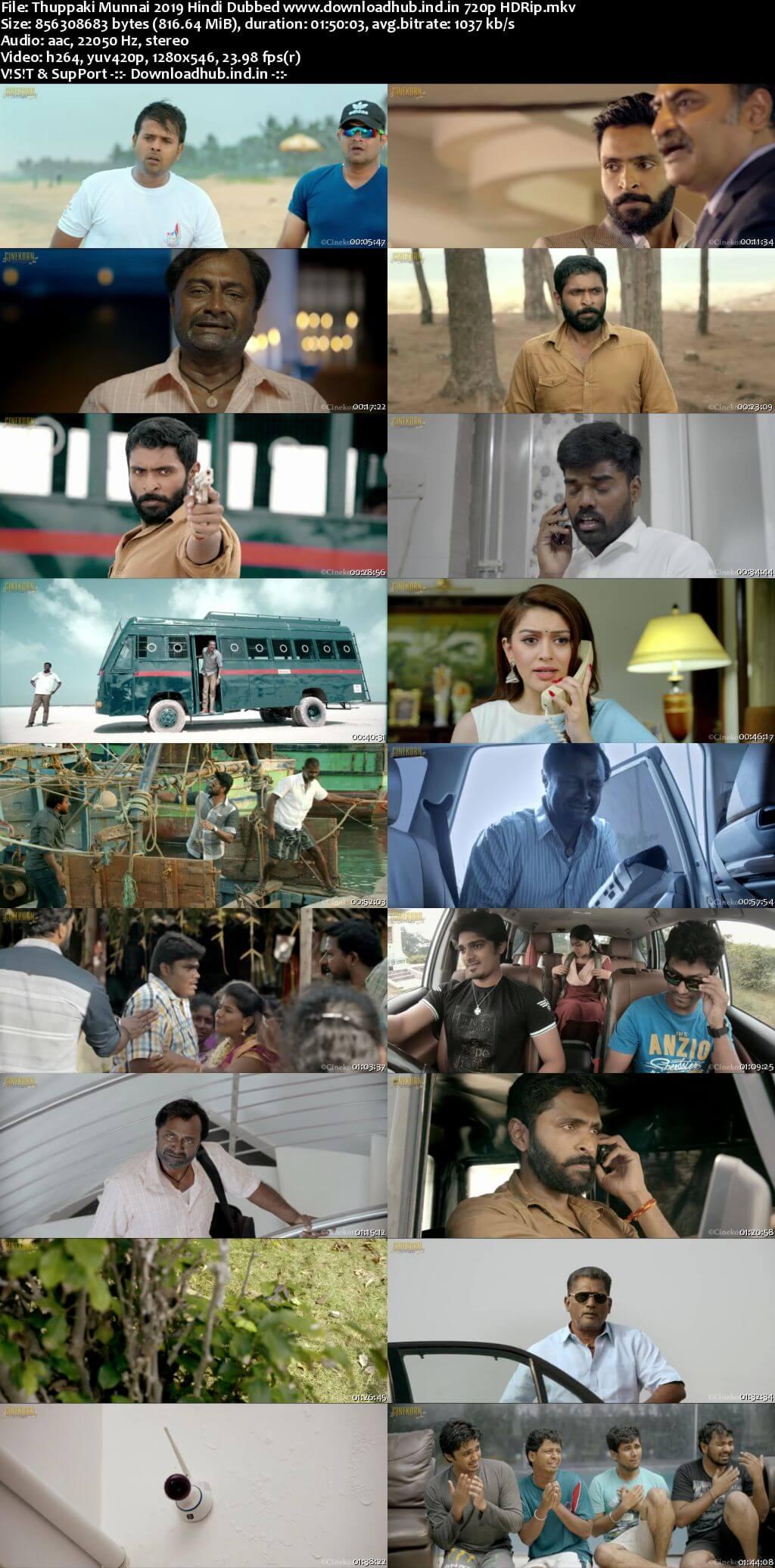 Thuppaki Munnai 2019 Hindi Dubbed 720p HDRip x264