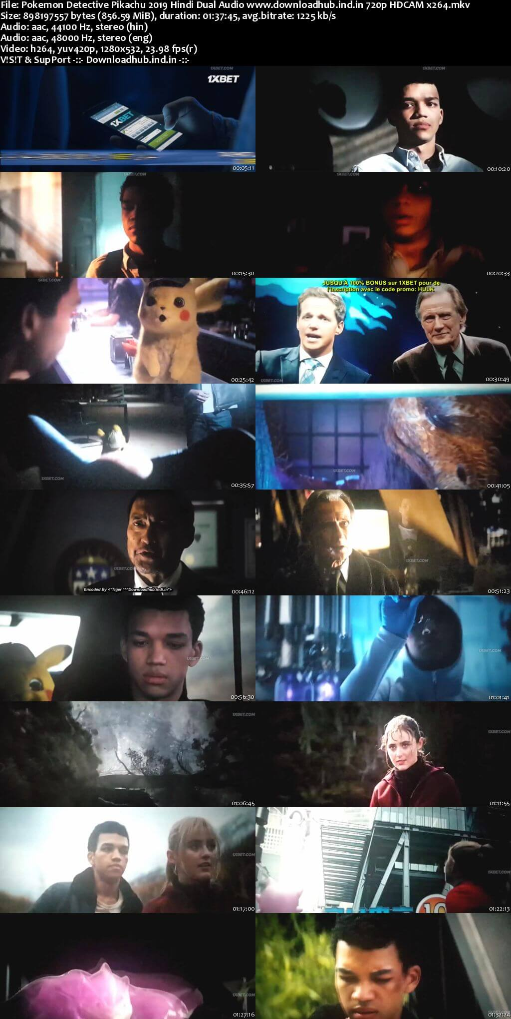 Pokemon Detective Pikachu 2019 Hindi Dual Audio 720p HDCAM x264