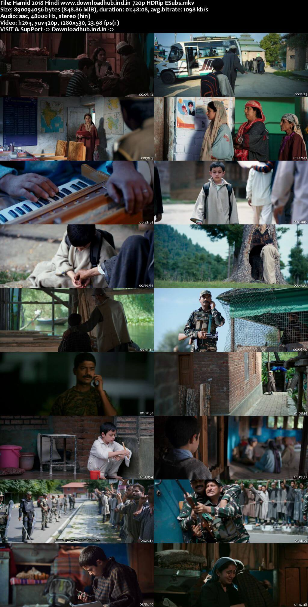 Hamid 2018 Hindi 720p HDRip ESubs
