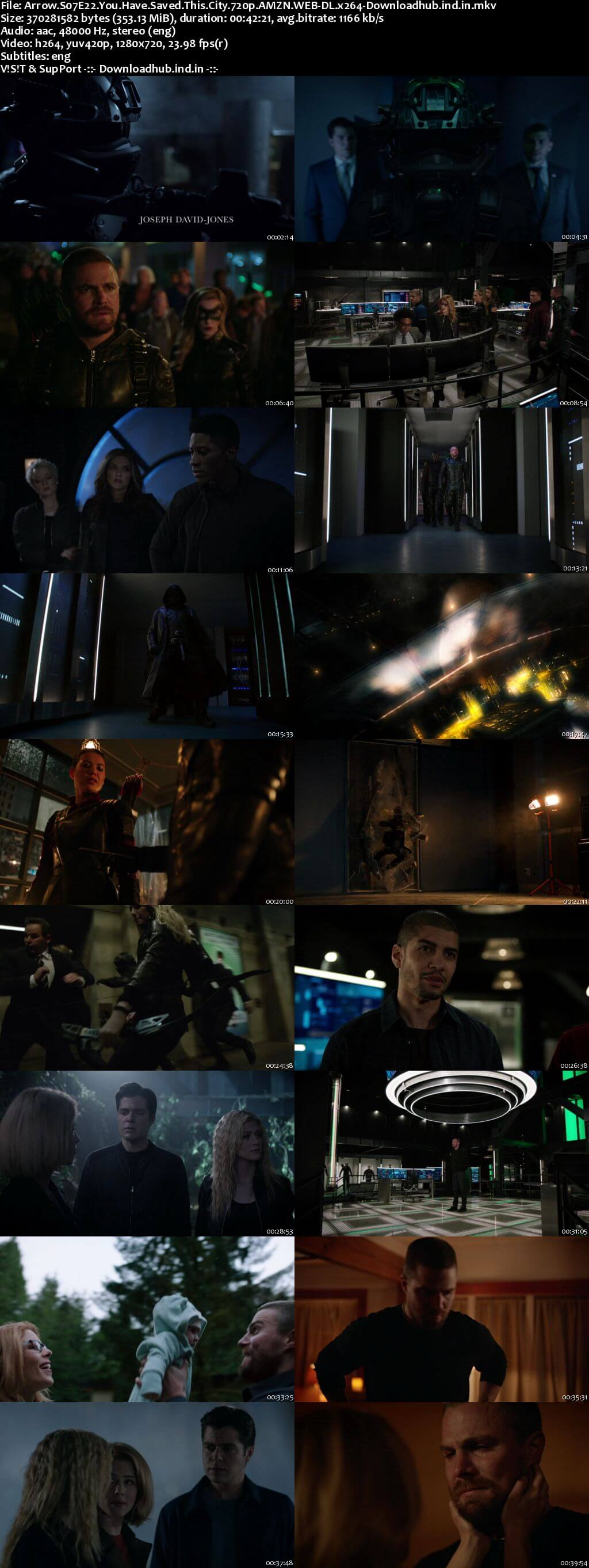 Arrow S07E22 350MB AMZN Web-DL 720p ESubs