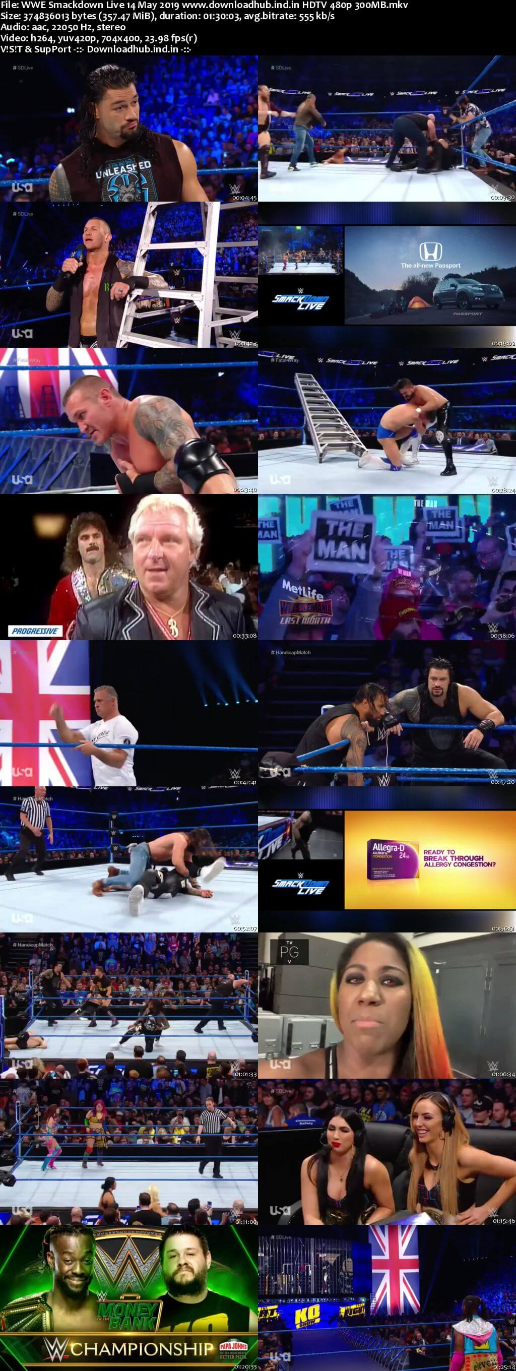 WWE Smackdown Live 14th May 2019 300MB HDTV 480p