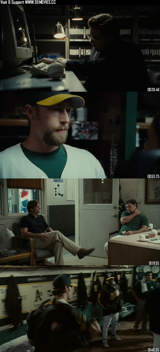 Moneyball 2011 Dual Audio Hindi 480p BluRay 400mb