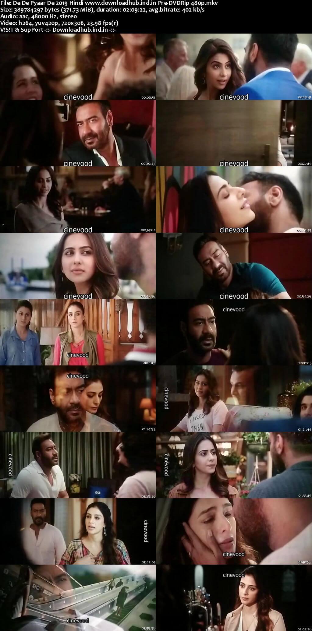 De De Pyaar De 2019 Hindi 350MB Pre-DVDRip 480p
