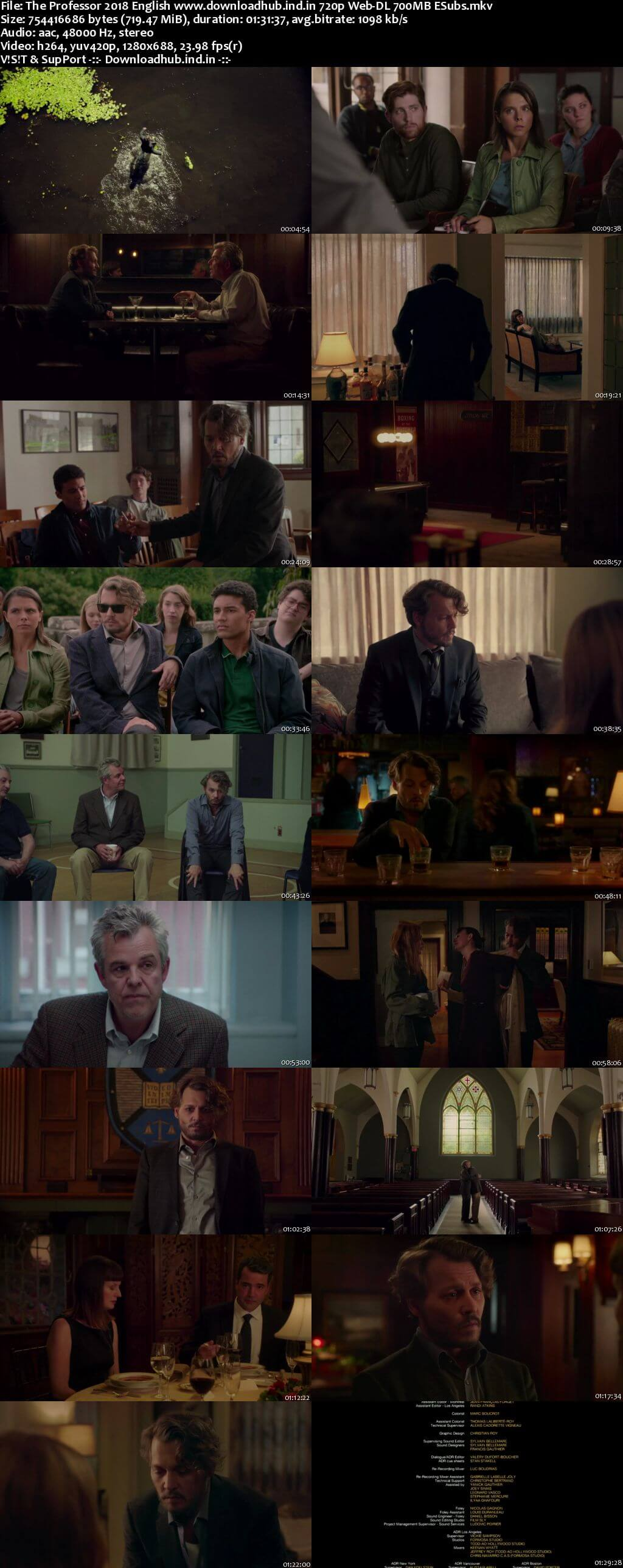 The Professor 2018 English 720p Web-DL 700MB ESubs