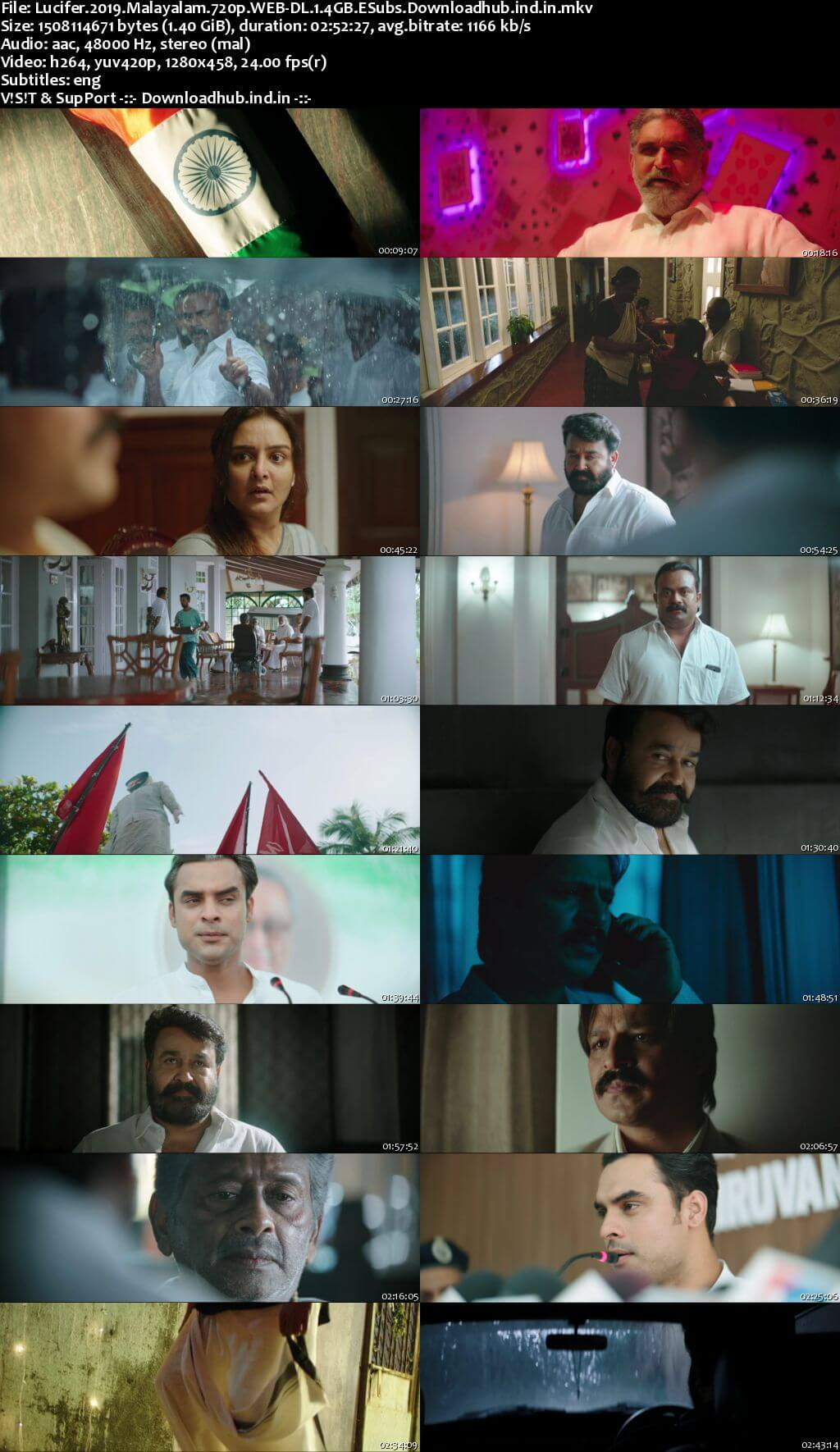 Lucifer 2019 Malayalam 720p HDRip ESubs