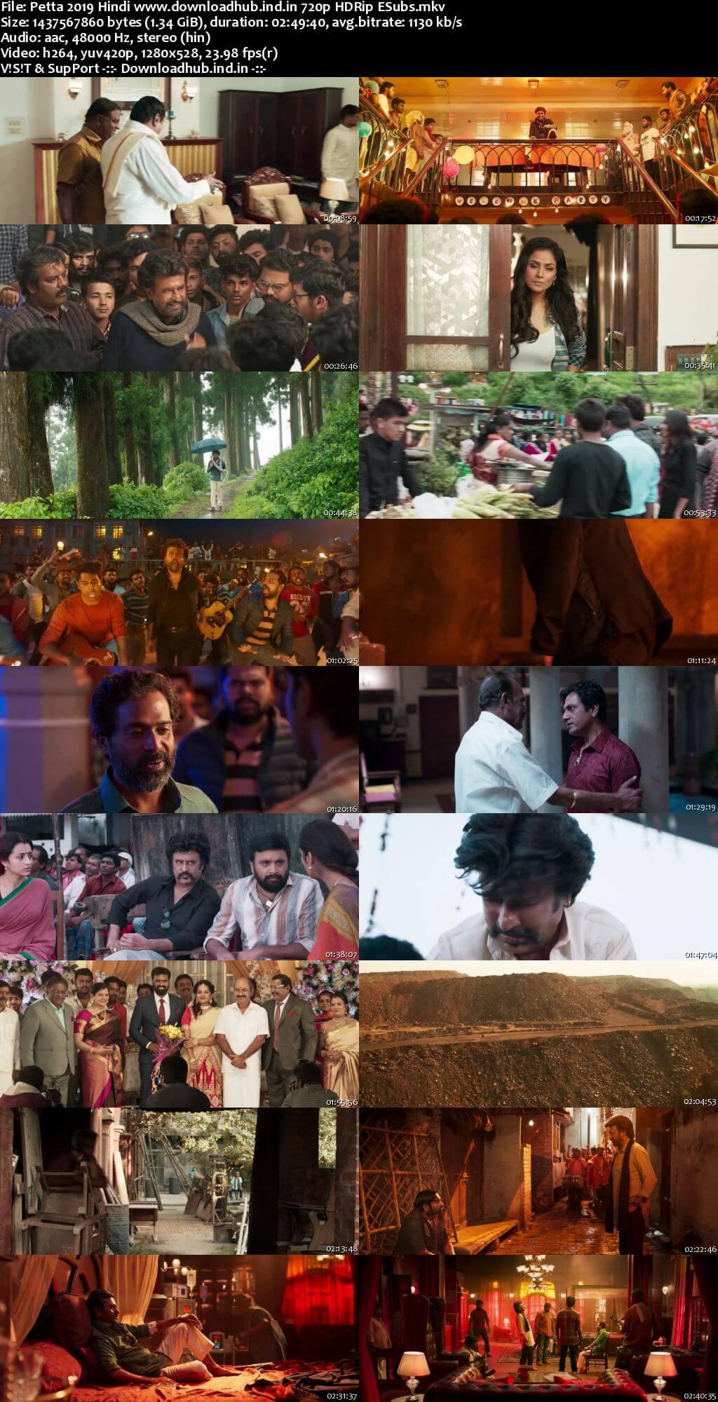 Petta 2019 Hindi 720p HDRip ESubs
