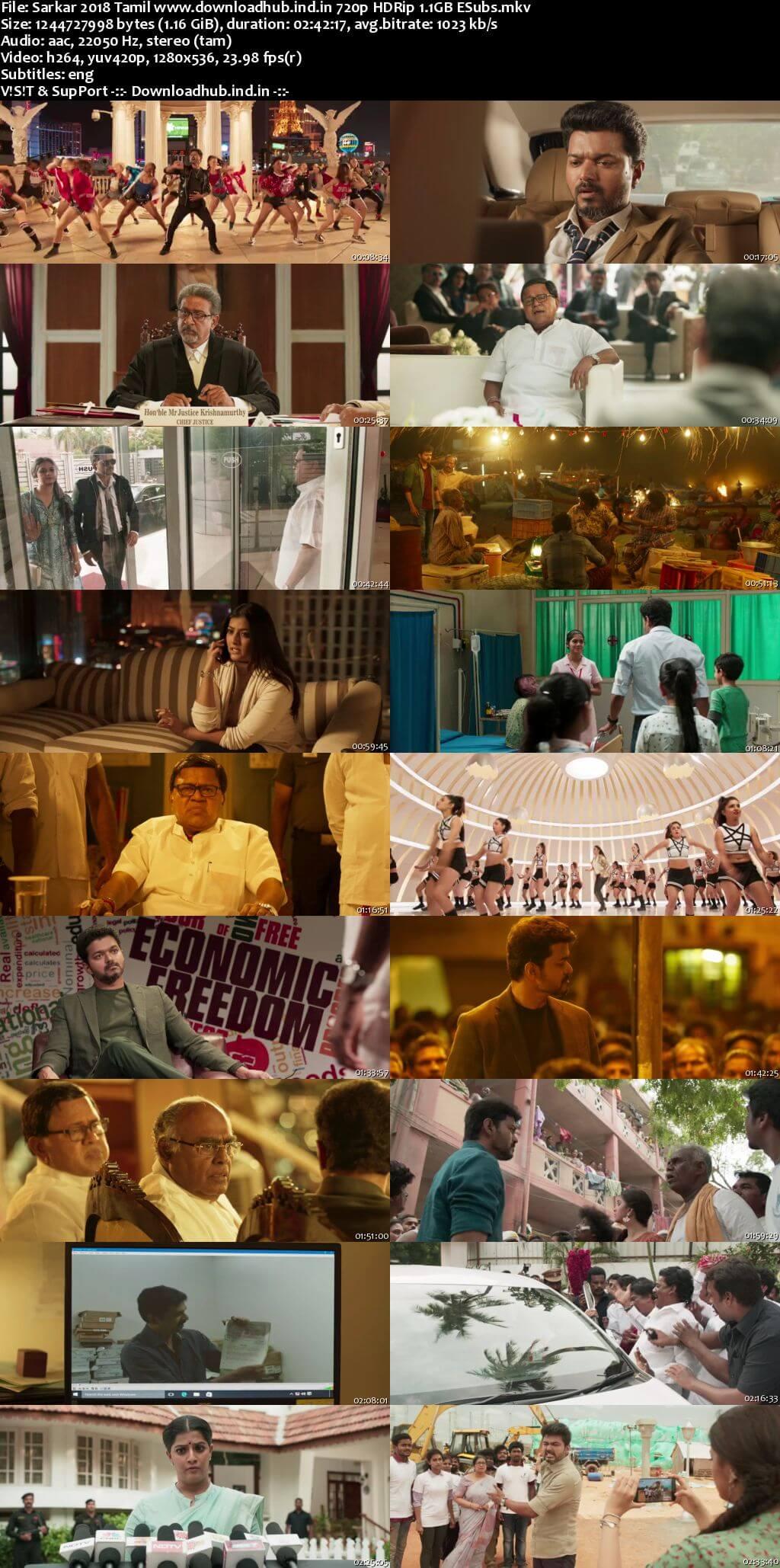 Sarkar 2018 Tamil 720p HDRip ESubs