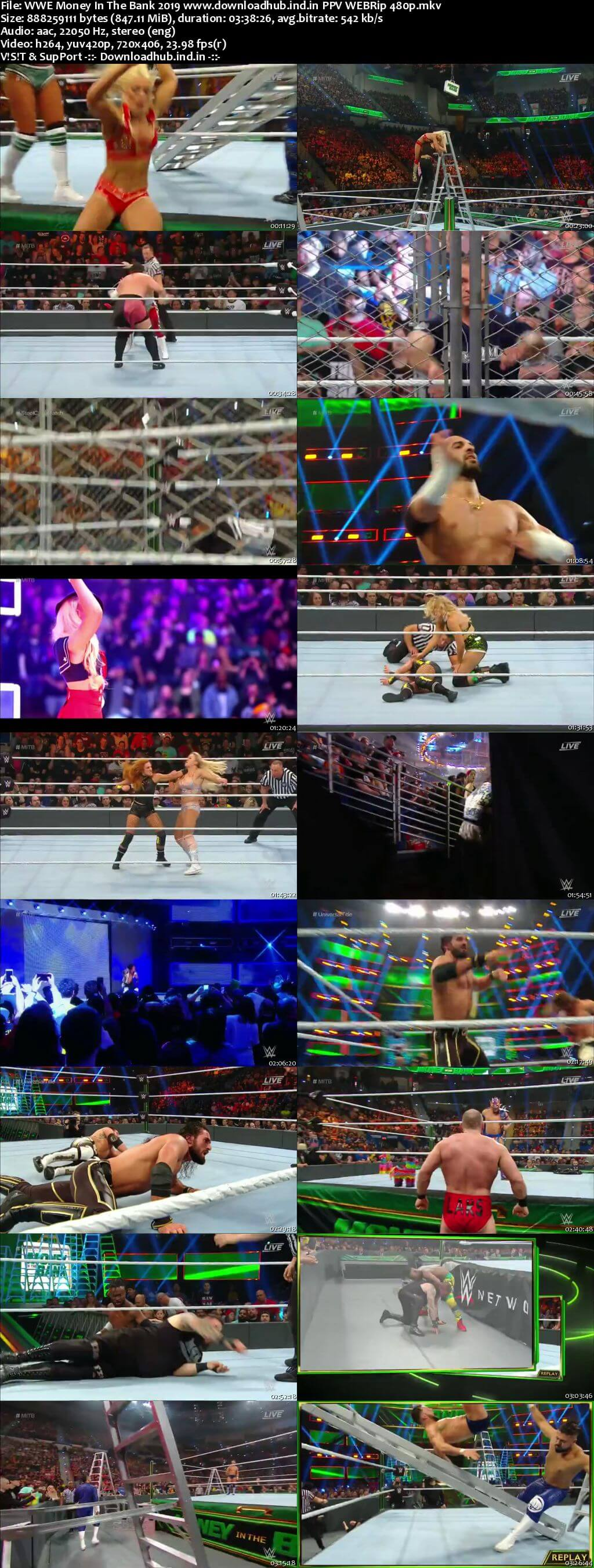 WWE Money In The Bank 19th May 2019 850MB PPV WEBRip 480p