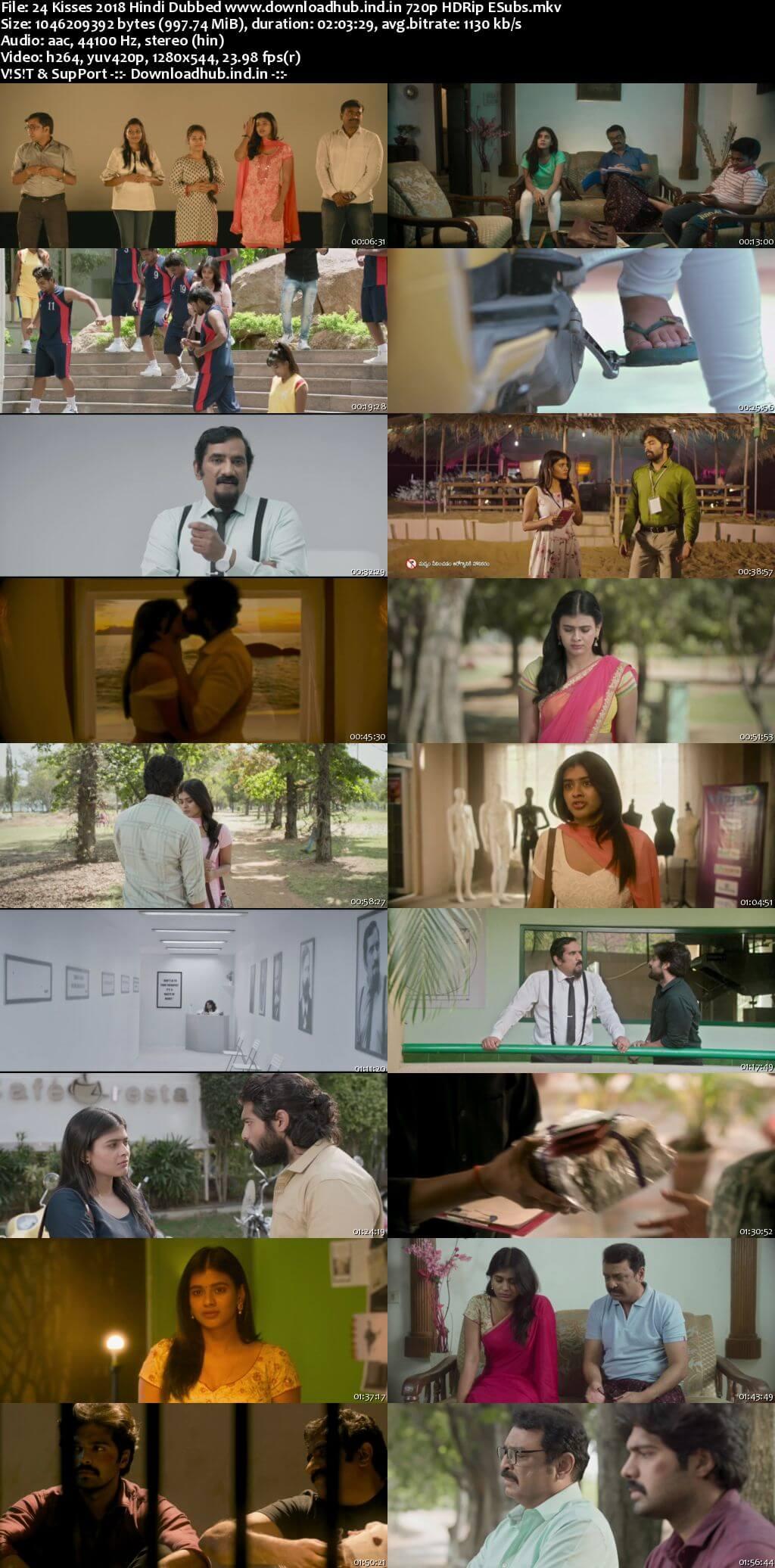 24 Kisses 2018 Hindi Dubbed 720p HDRip ESubs