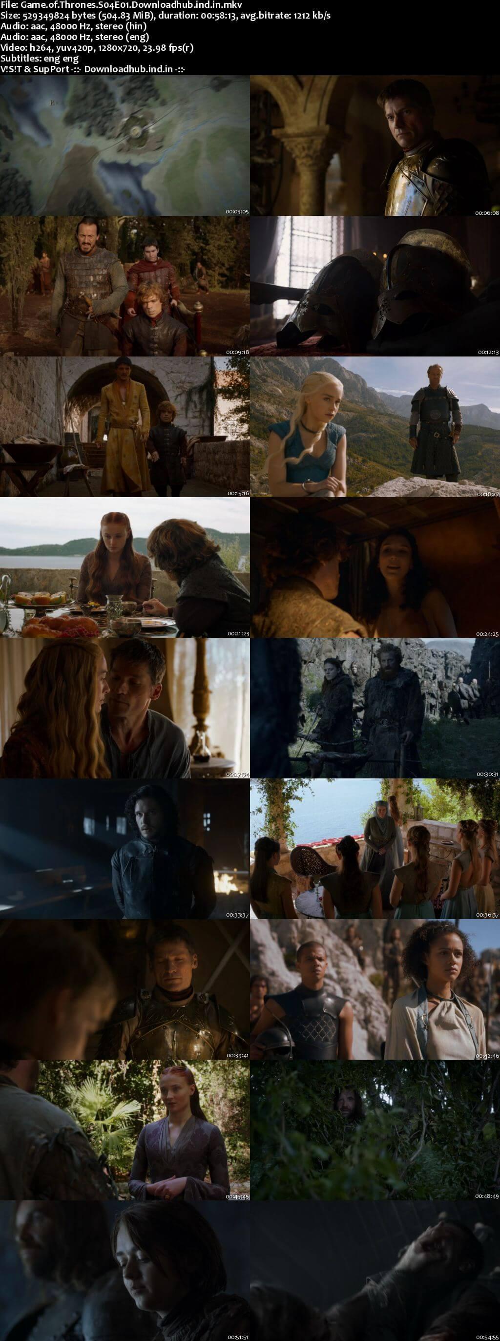 Game of Thrones S04 Complete Hindi Dual Audio 720p BRRip ESubs