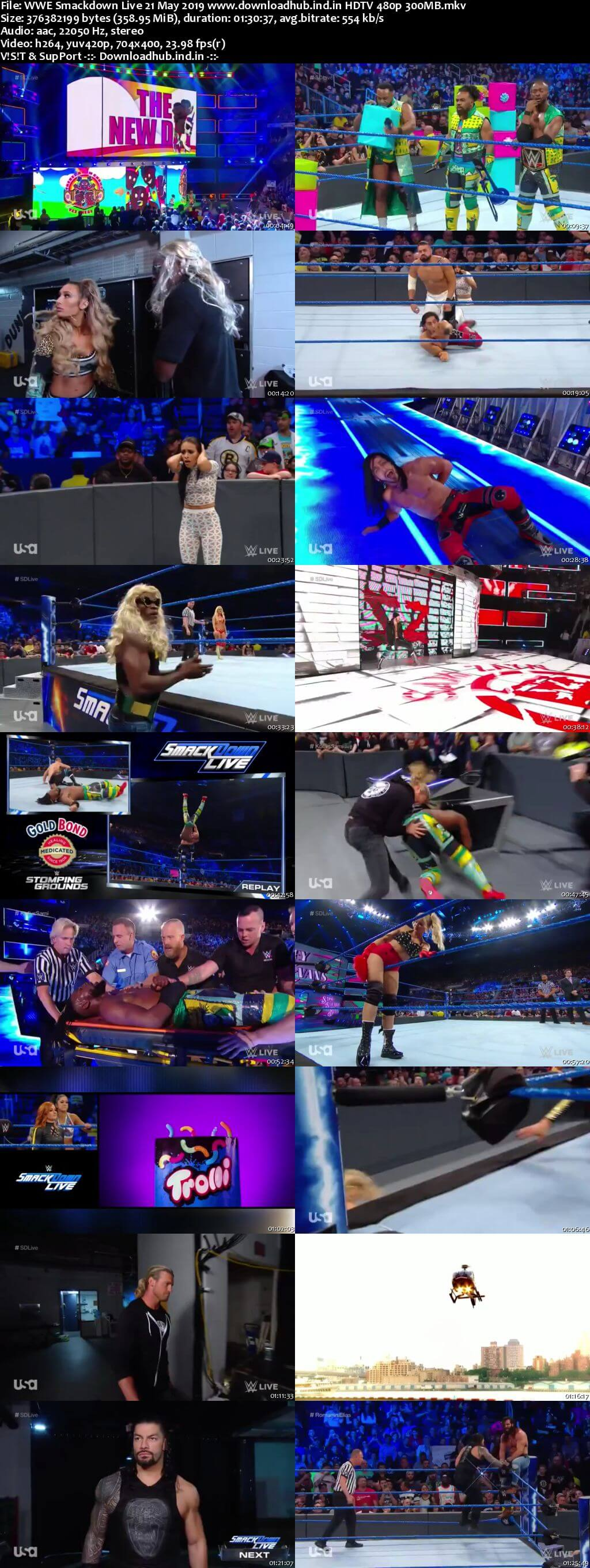 WWE Smackdown Live 21st May 2019 300MB HDTV 480p