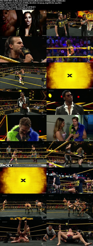 WWE NXT 22nd May 2019 200MB HDTV 480p