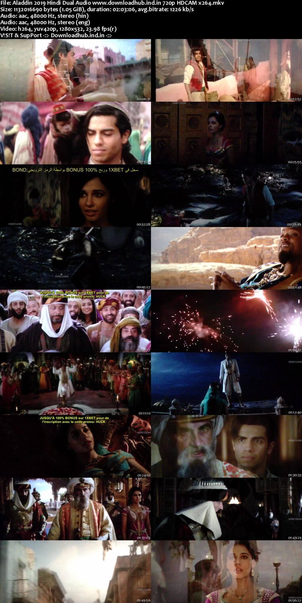Aladdin 2019 Hindi Dual Audio 720p HDCAM x264