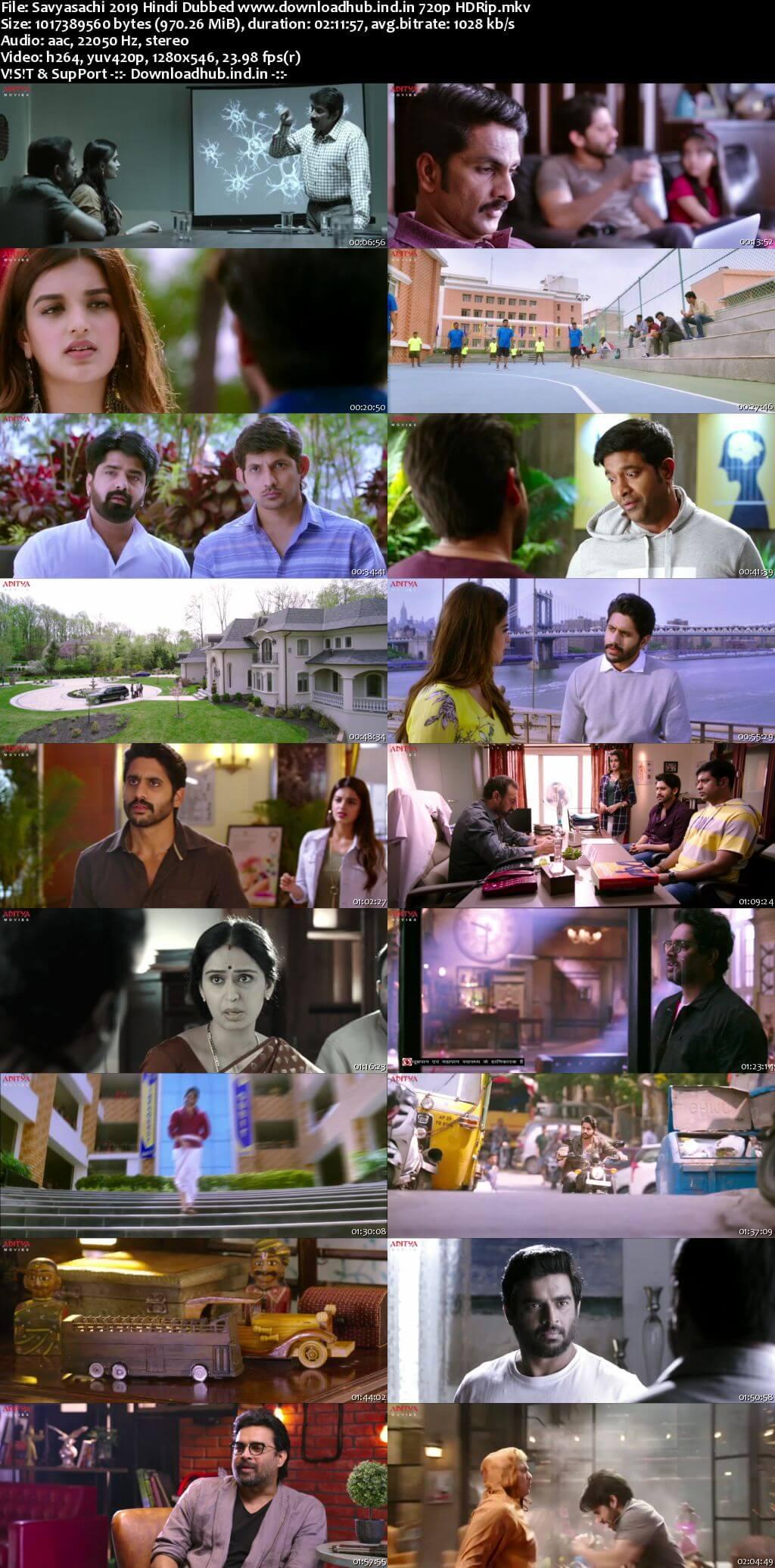 Savyasachi 2019 Hindi Dubbed 720p HDRip x264
