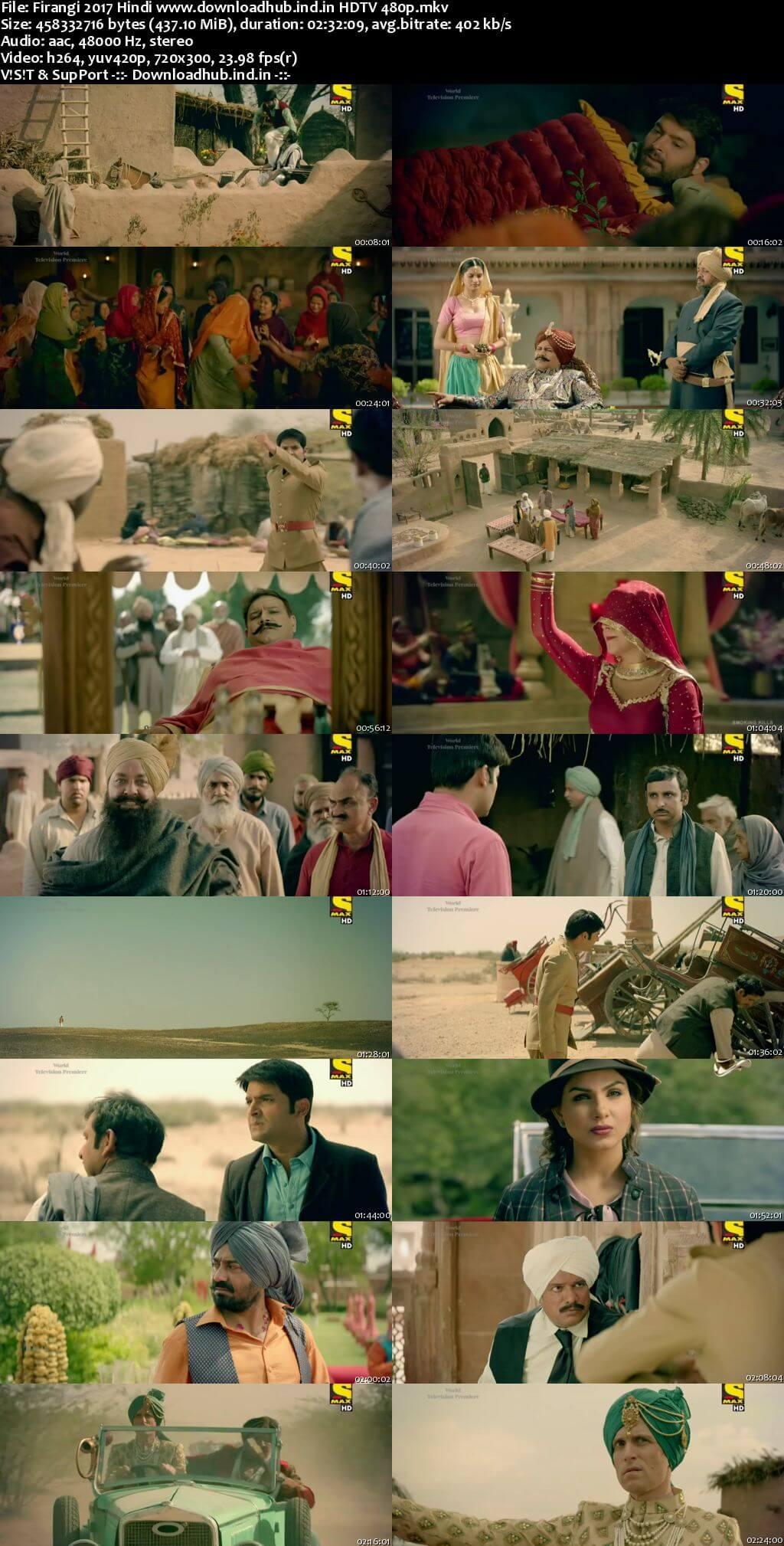 Firangi 2017 Hindi 400MB HDTV 480p