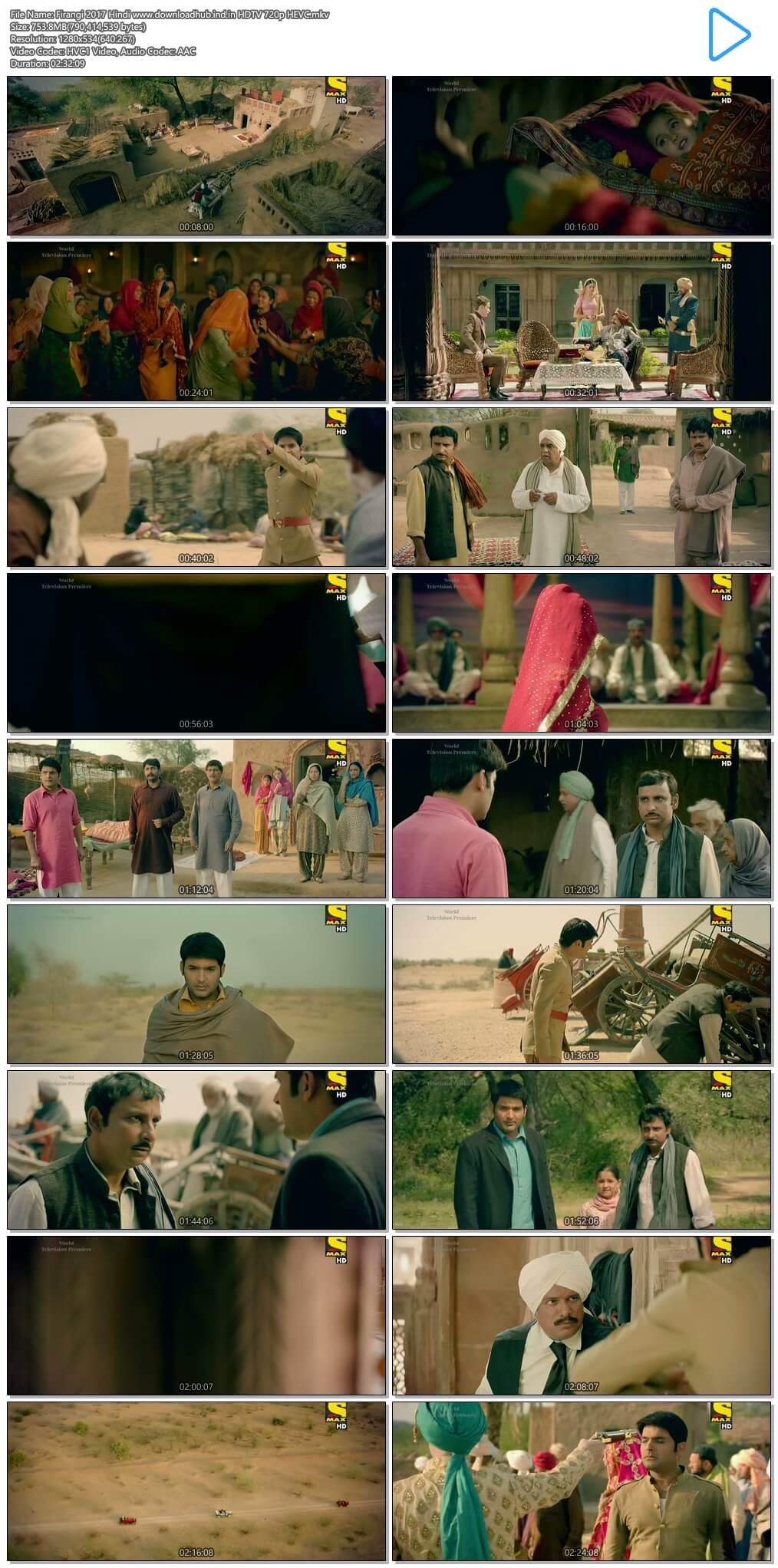 Firangi 2017 Hindi 750MB HDTV 720p HEVC