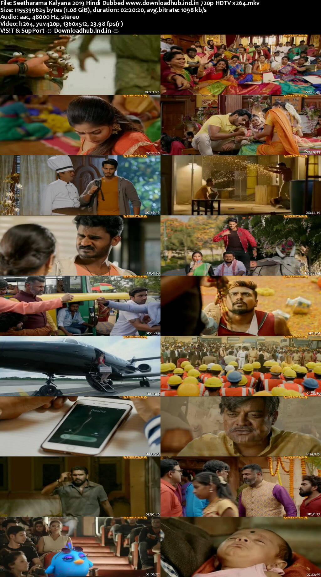 Seetharama Kalyana 2019 Hindi Dubbed 720p HDTV x264