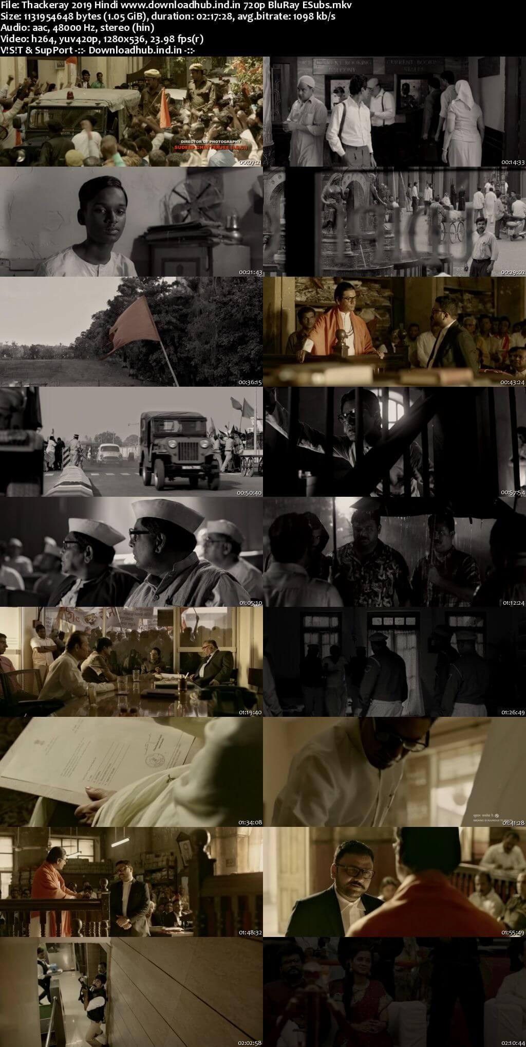 Thackeray 2019 Hindi 720p BluRay ESubs